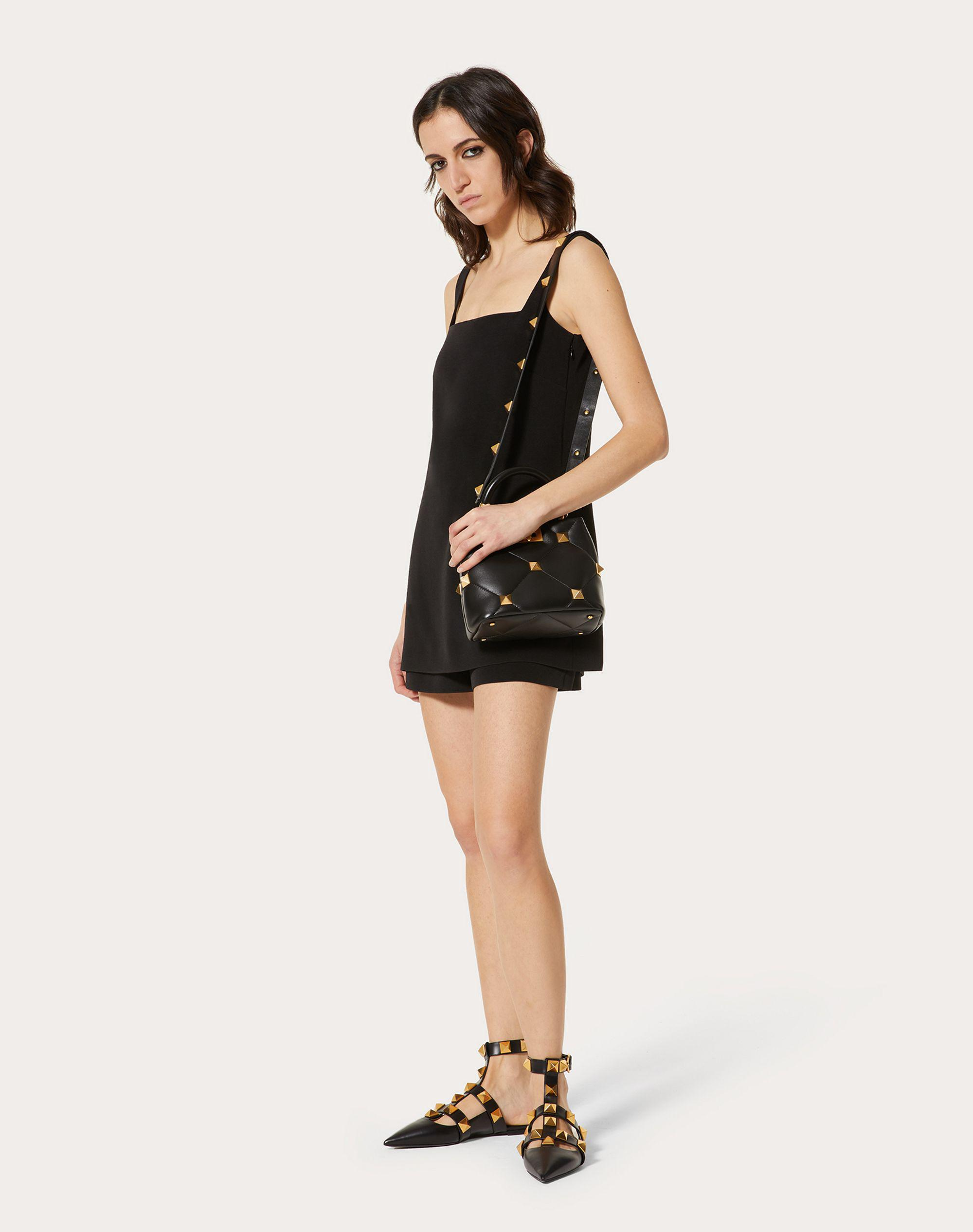 SHORT JUMPSUIT IN STRETCH CREPE COUTURE