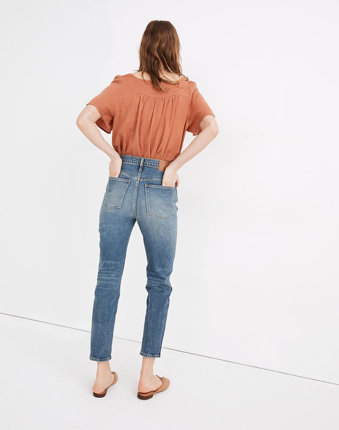 Rivet & Thread High-Rise Stovepipe Jeans in Keyes Wash 2