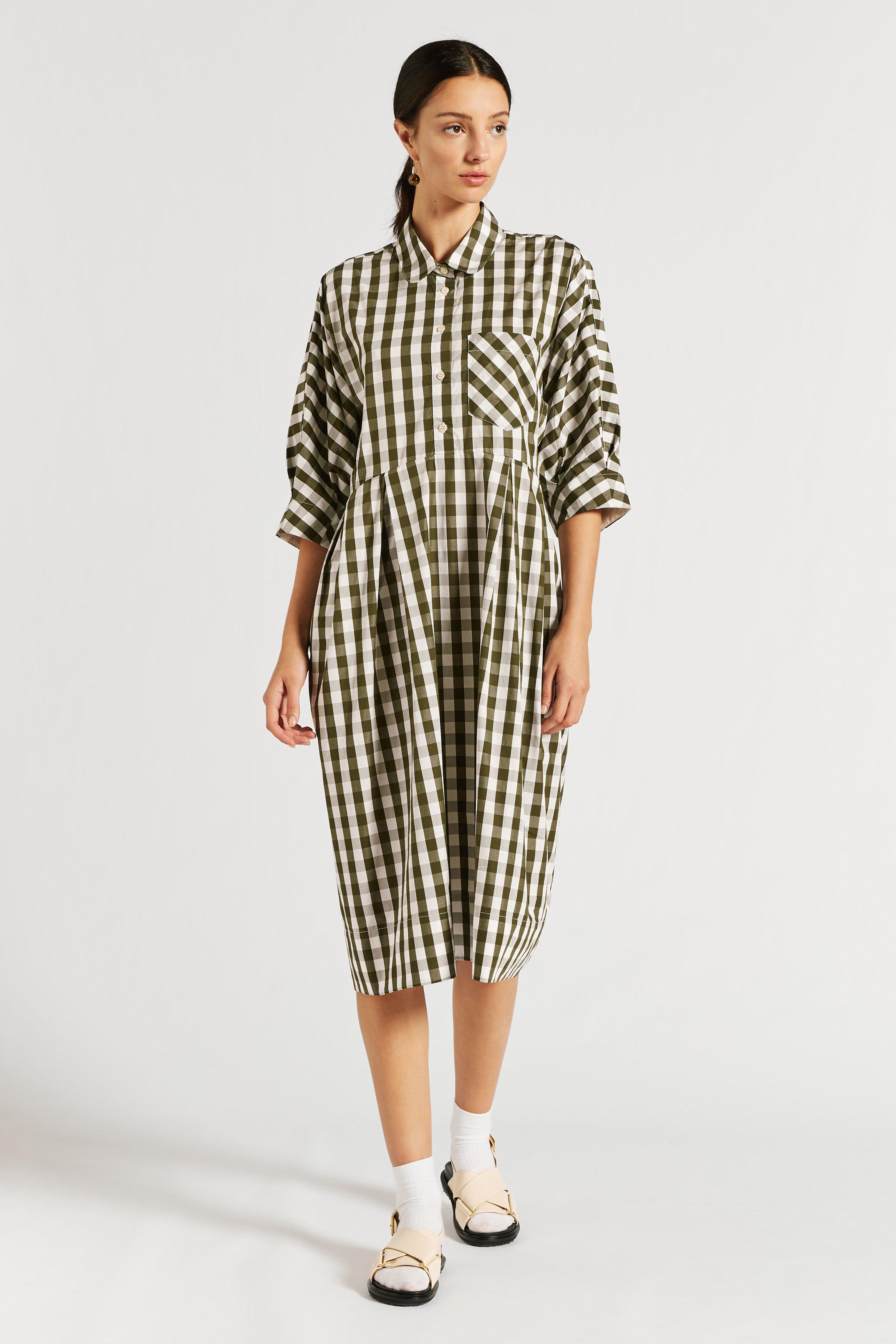 Charlie Pleat Front Shirtdress