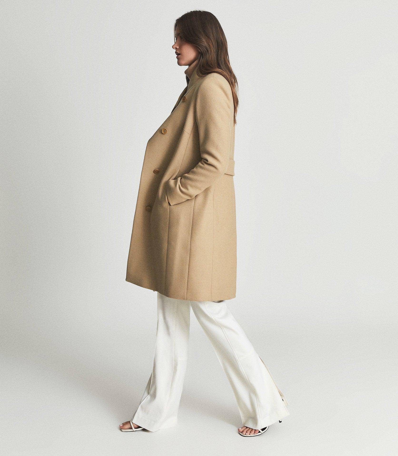 MIA - WOOL-BLEND DOUBLE-BREASTED COAT