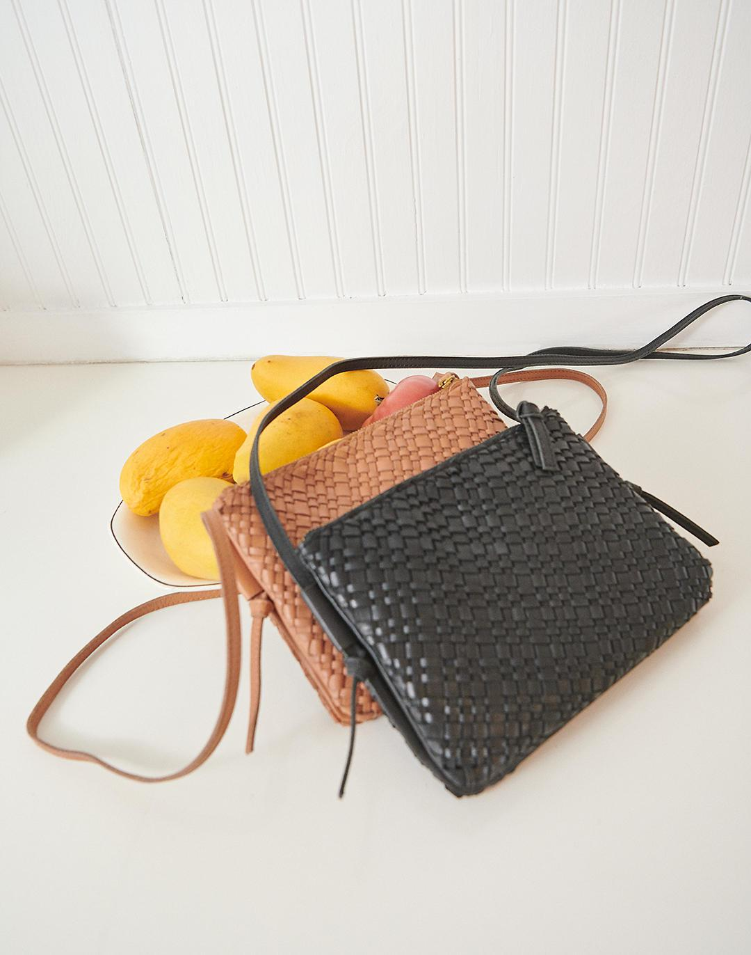 The Knotted Crossbody Bag in Woven Leather 3