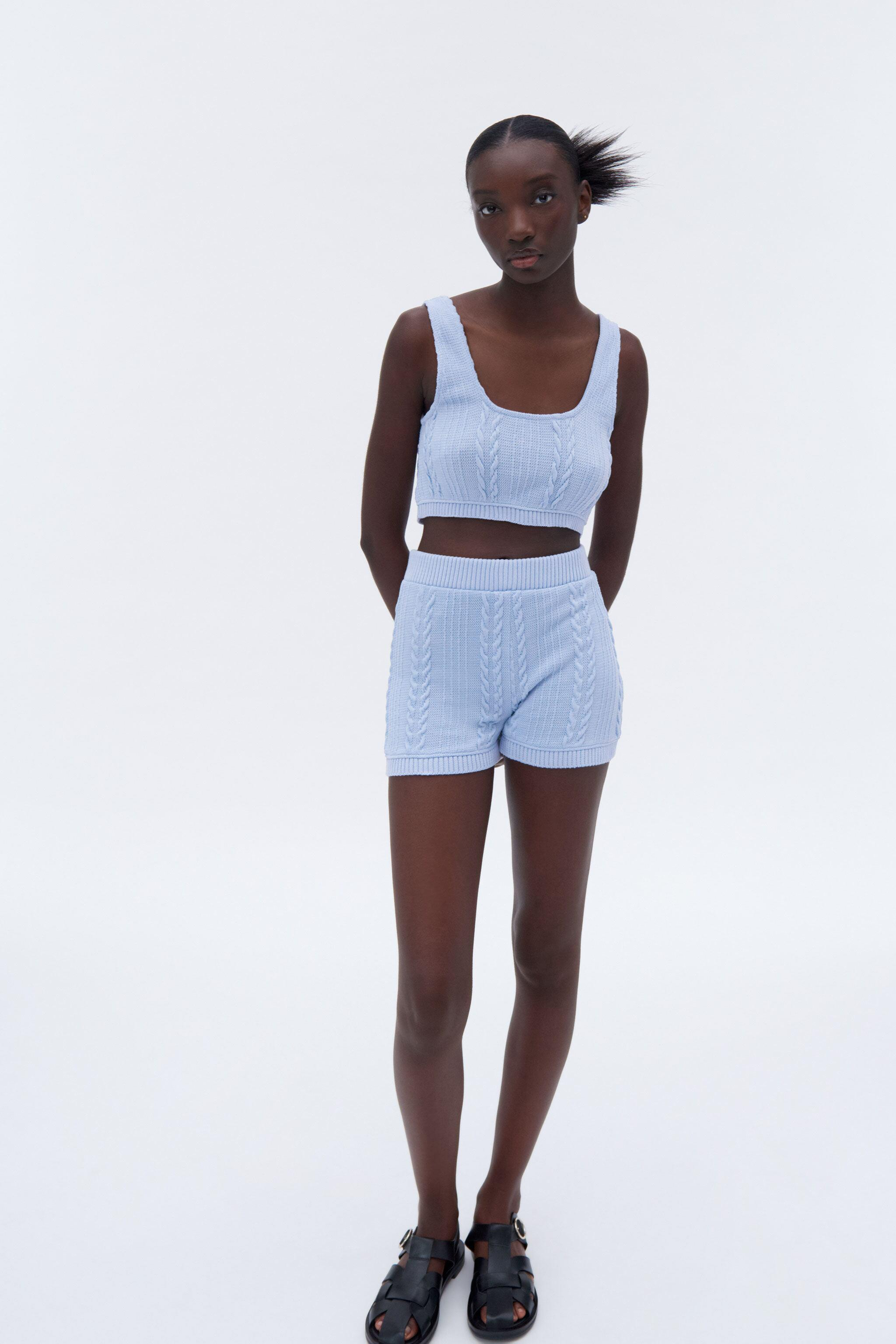 CABLE-KNIT SHORTS