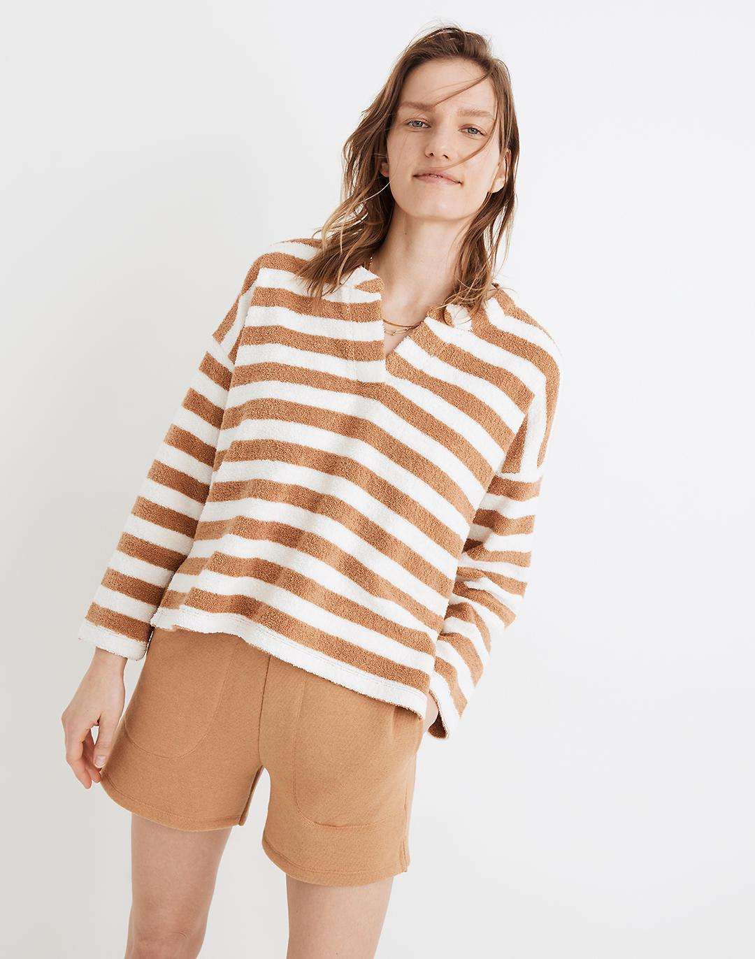 MWL Loop Terry Notched Sweatshirt