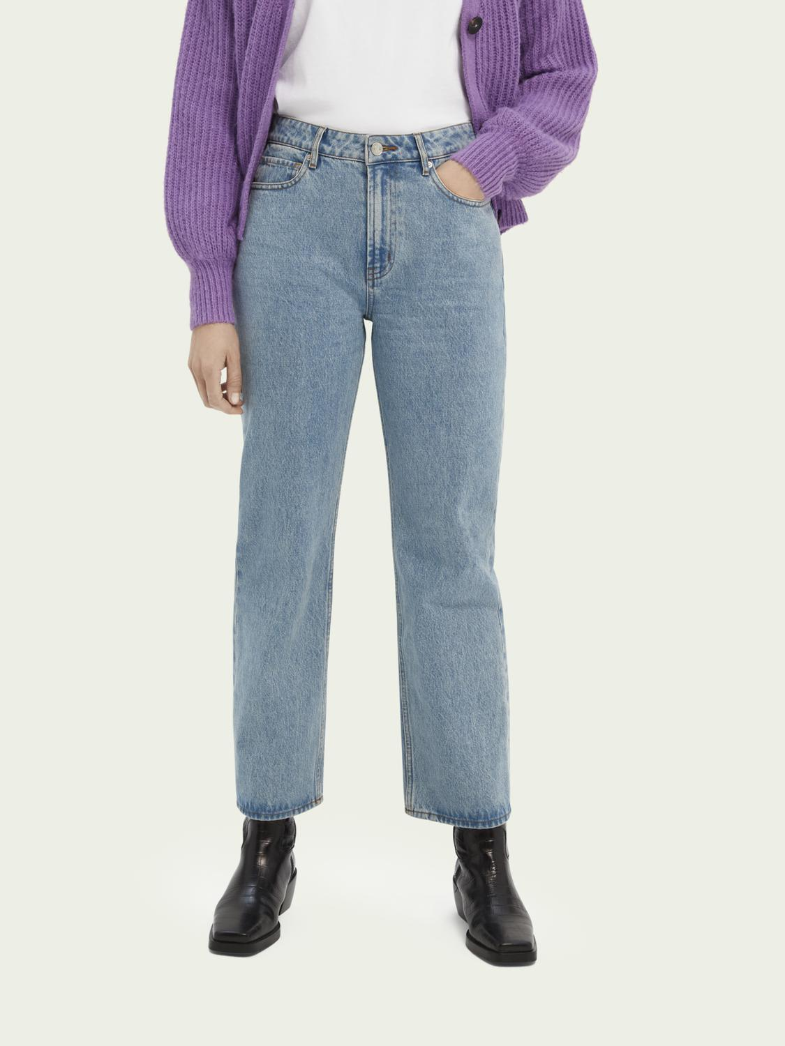 High-rise straight-fit jeans
