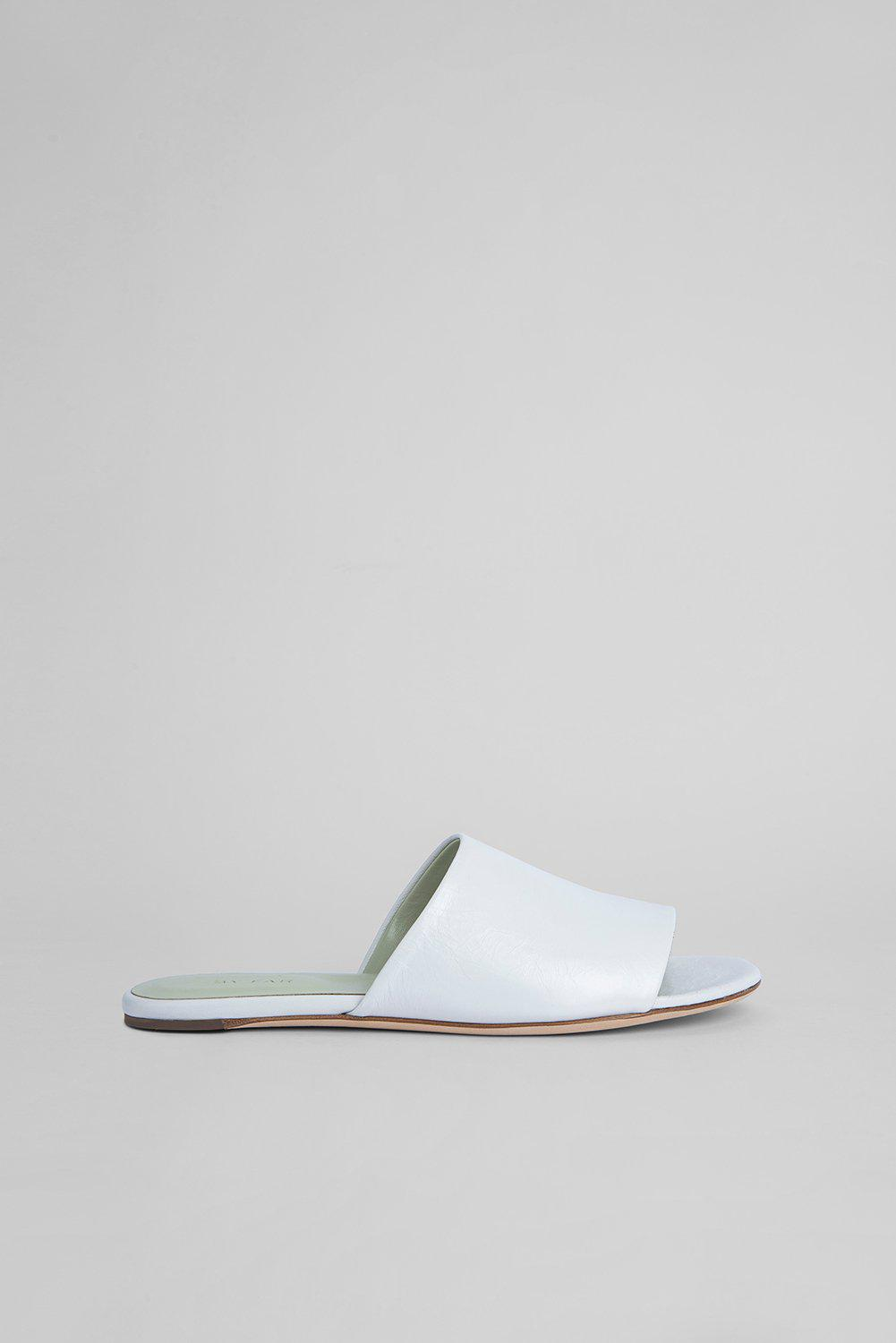 Baba White Gloss Leather