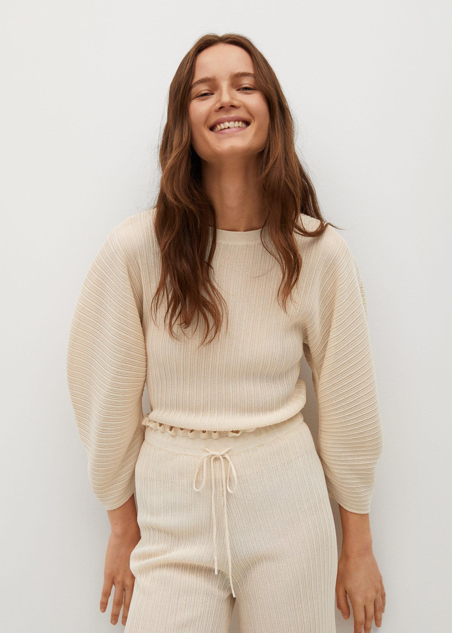 Pleated knit sweater 5