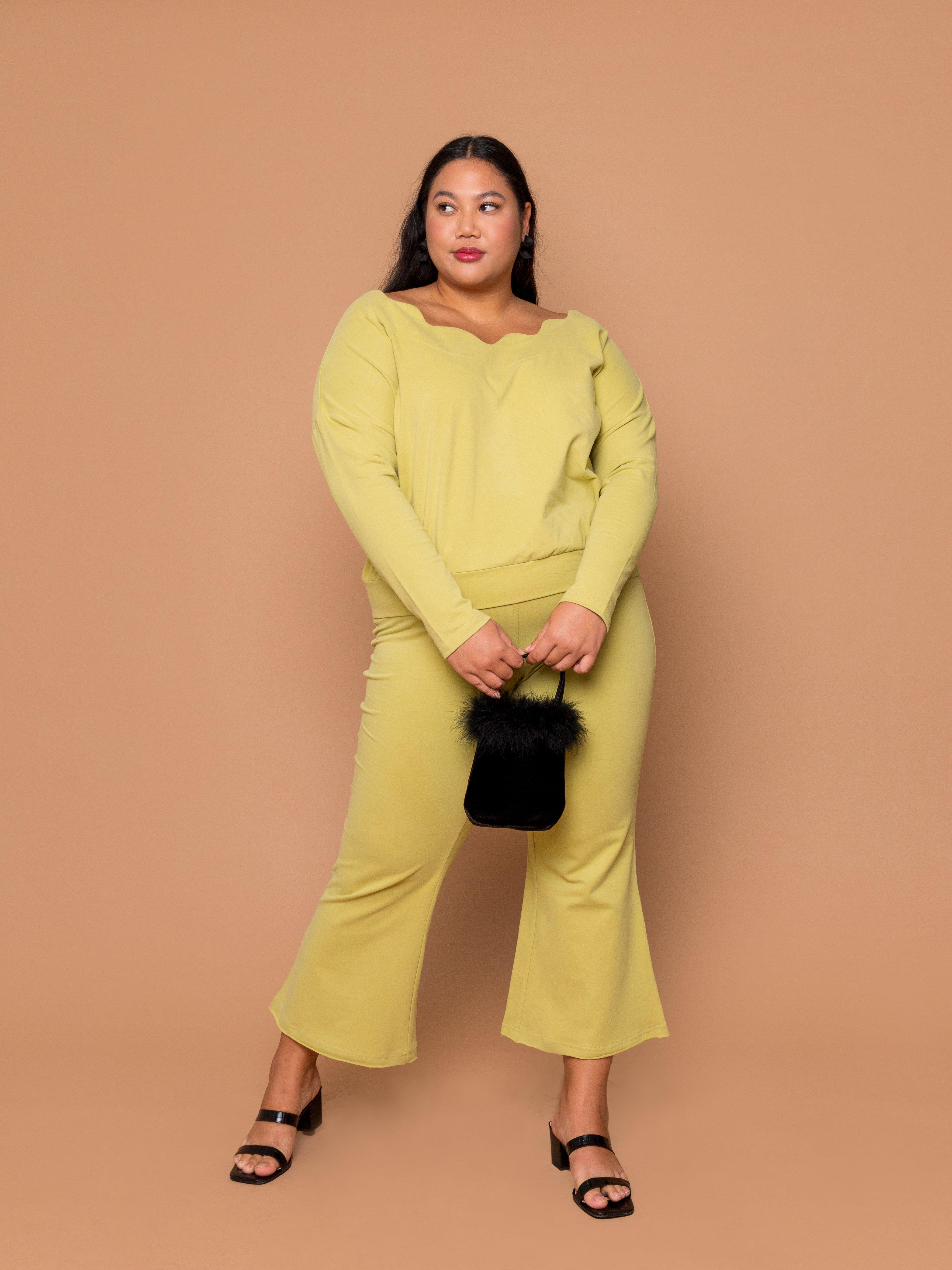 THE WAVY BABY PULLOVER -  Pear (FINAL SALE)