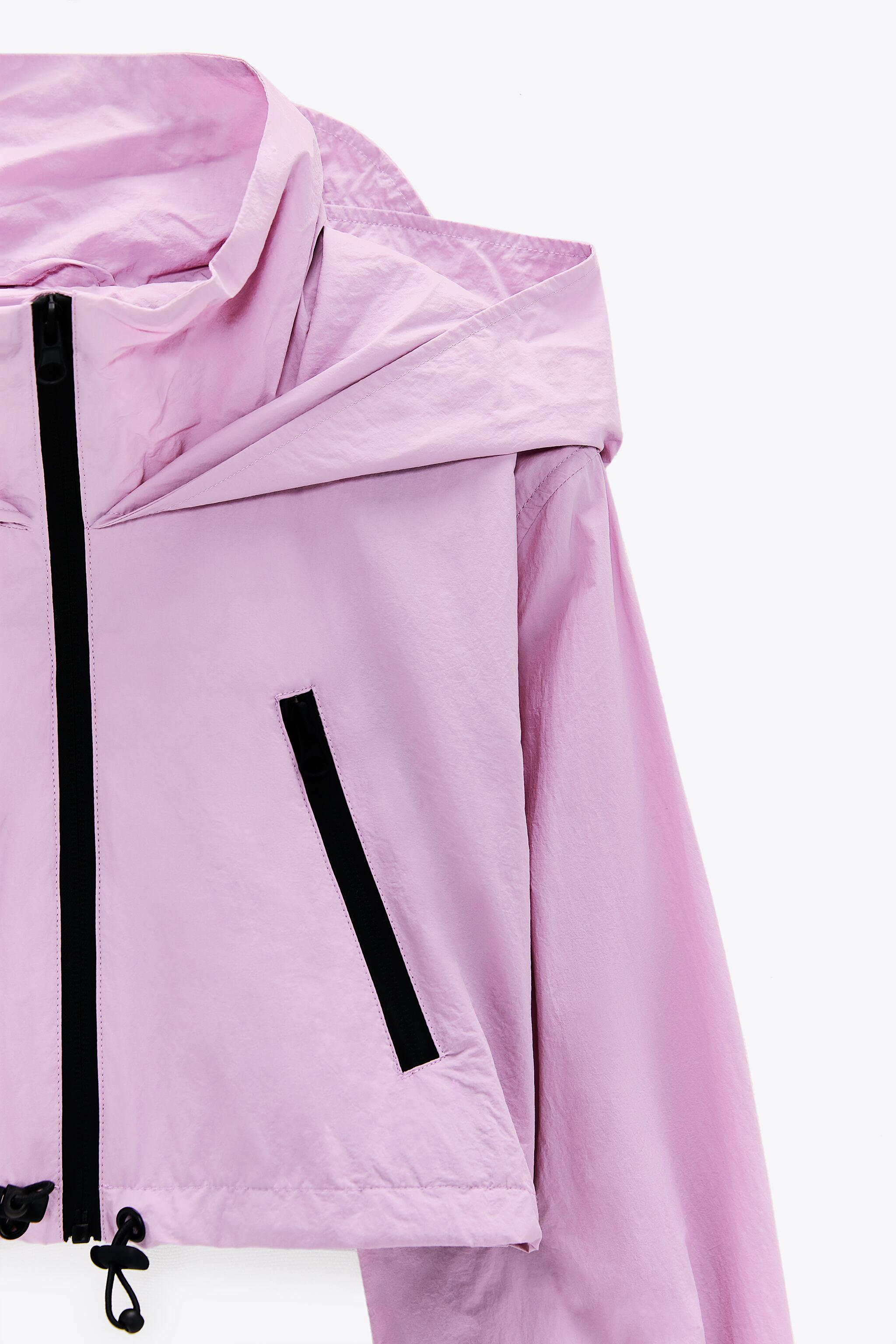CROPPED RAINCOAT WITH ZIPPERS 6