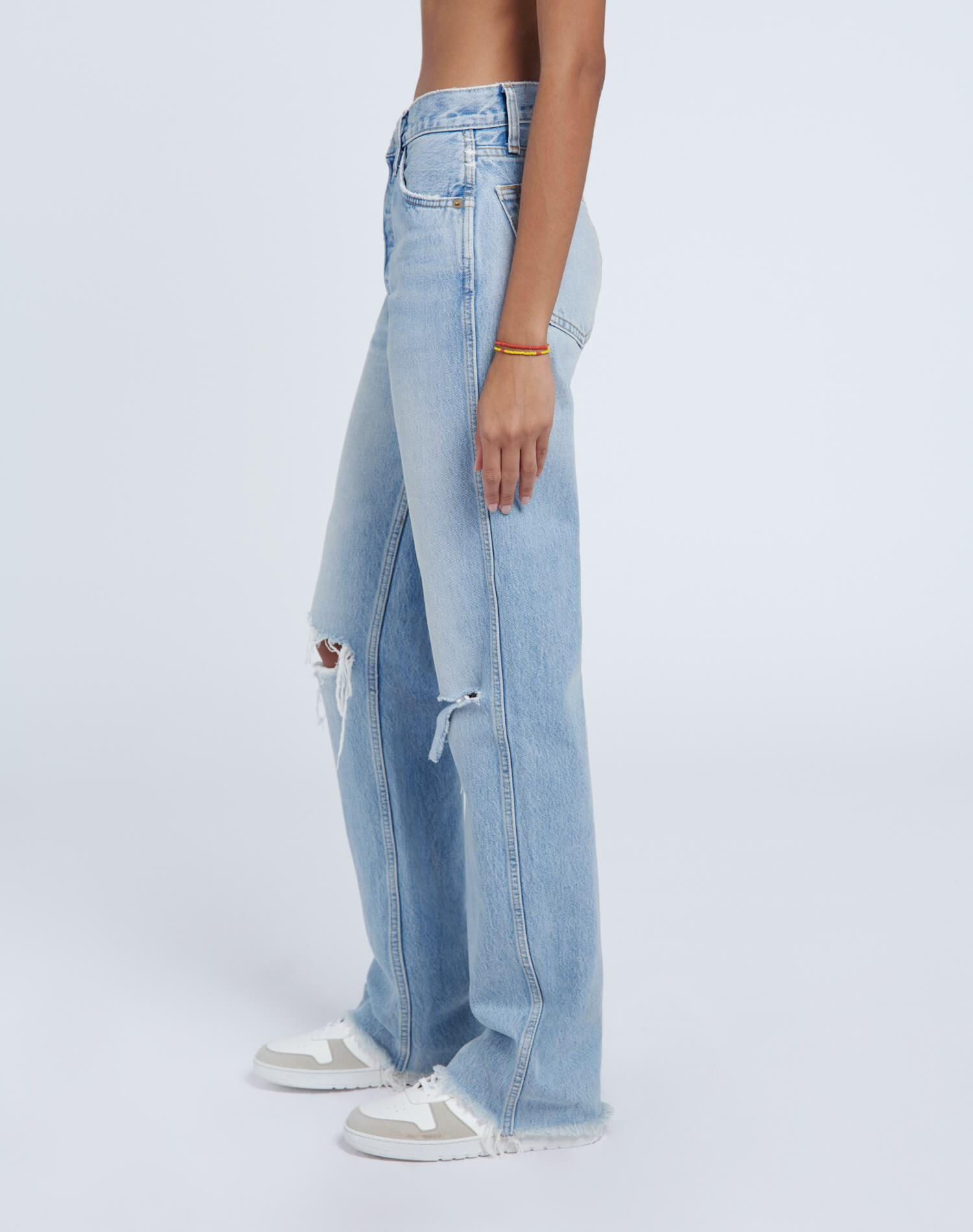High Rise Loose - Breezy Indigo with Rips 2