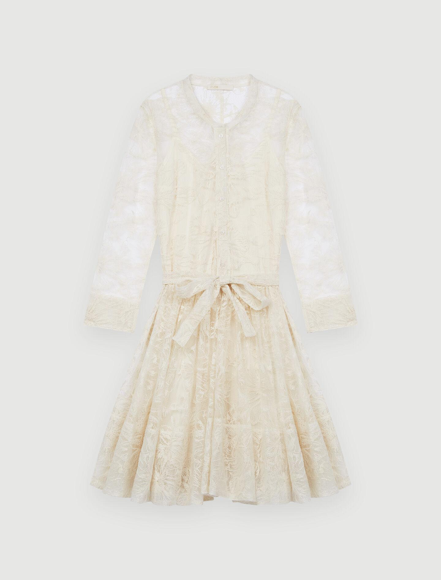 BELTED LACE DRESS 5