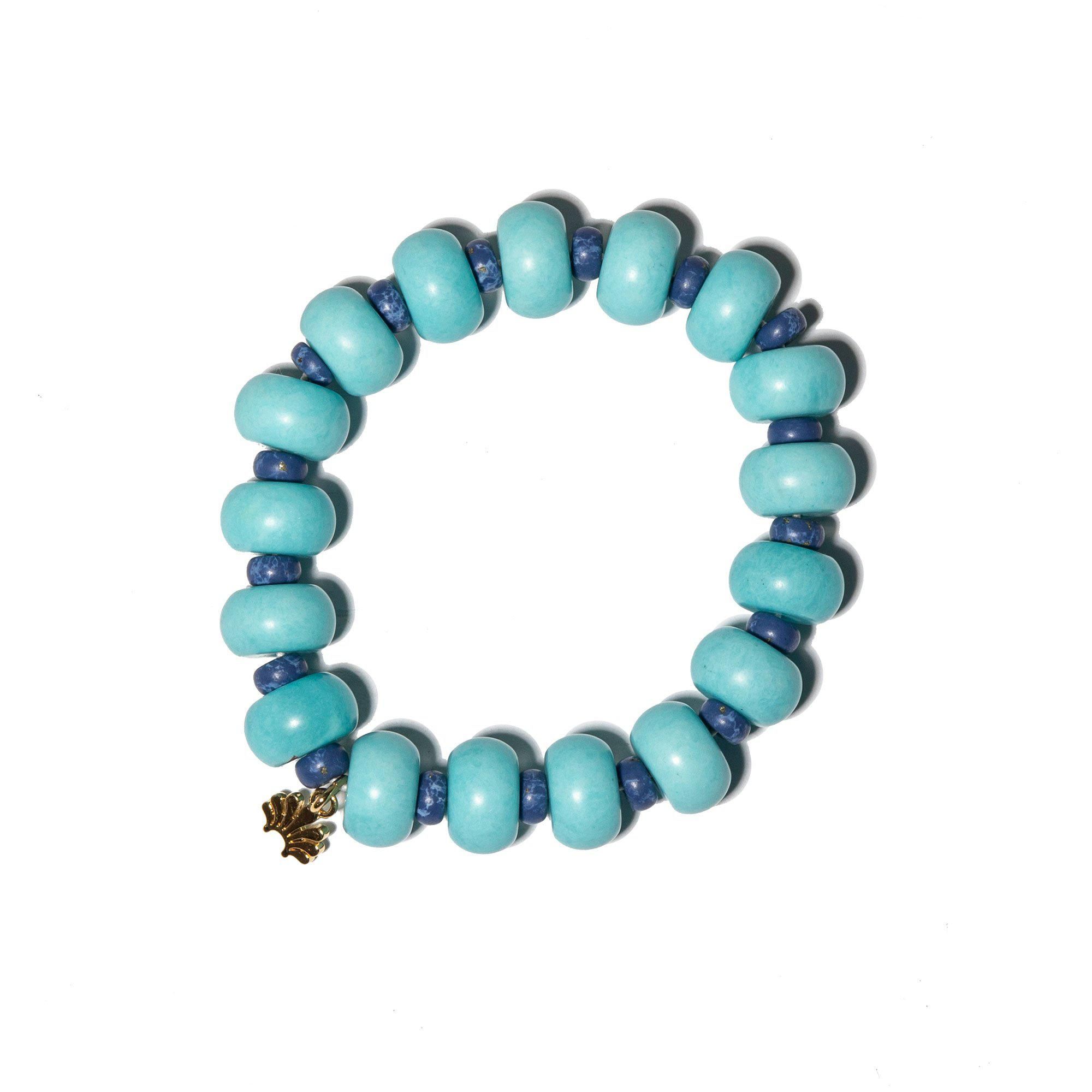 TURQUOISE BEADED COUNTRY CLUB BRACELET