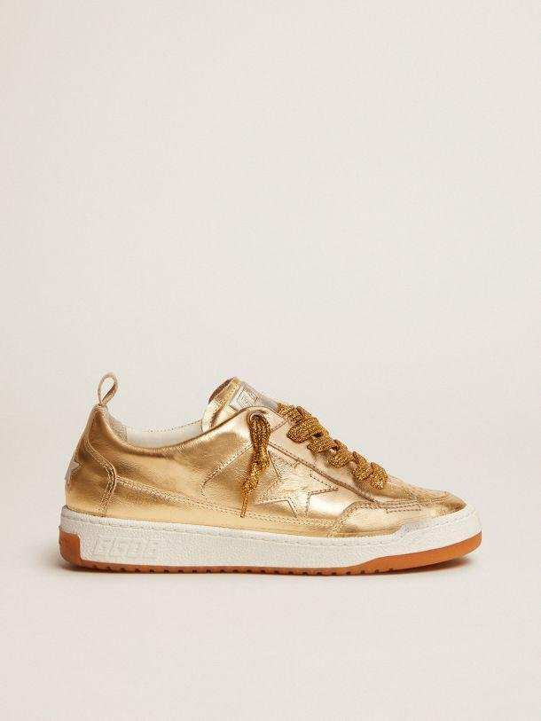 Yeah sneakers in gold laminated leather