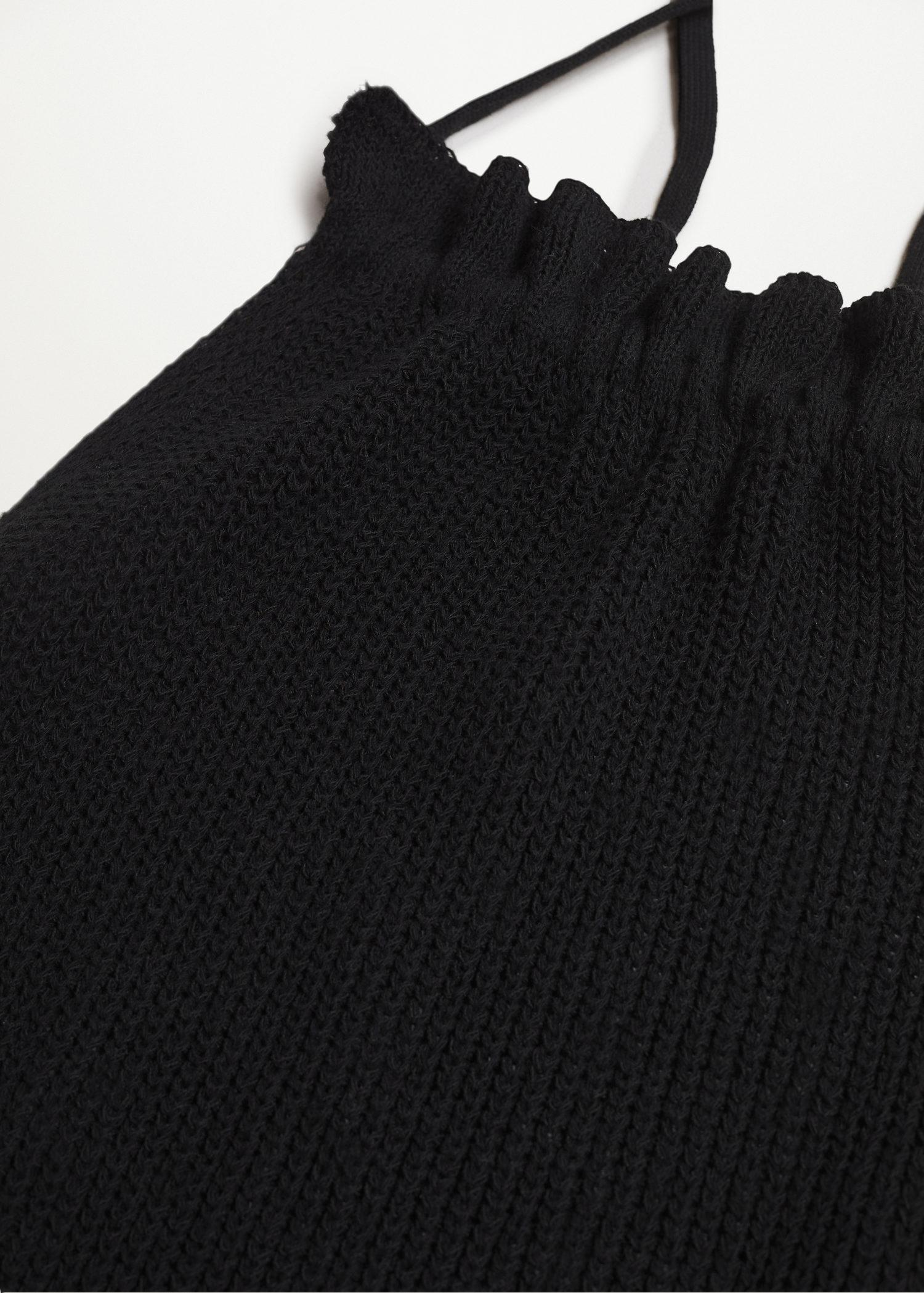 Open back knitted top 6