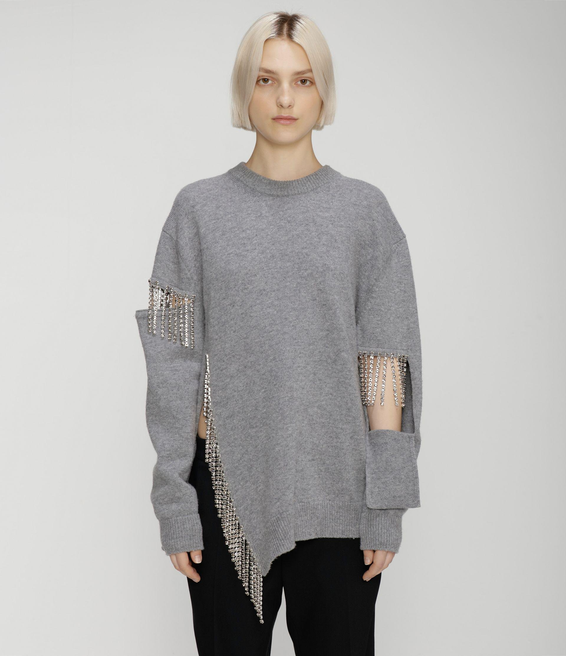 cut-out cupchain knitted sweater