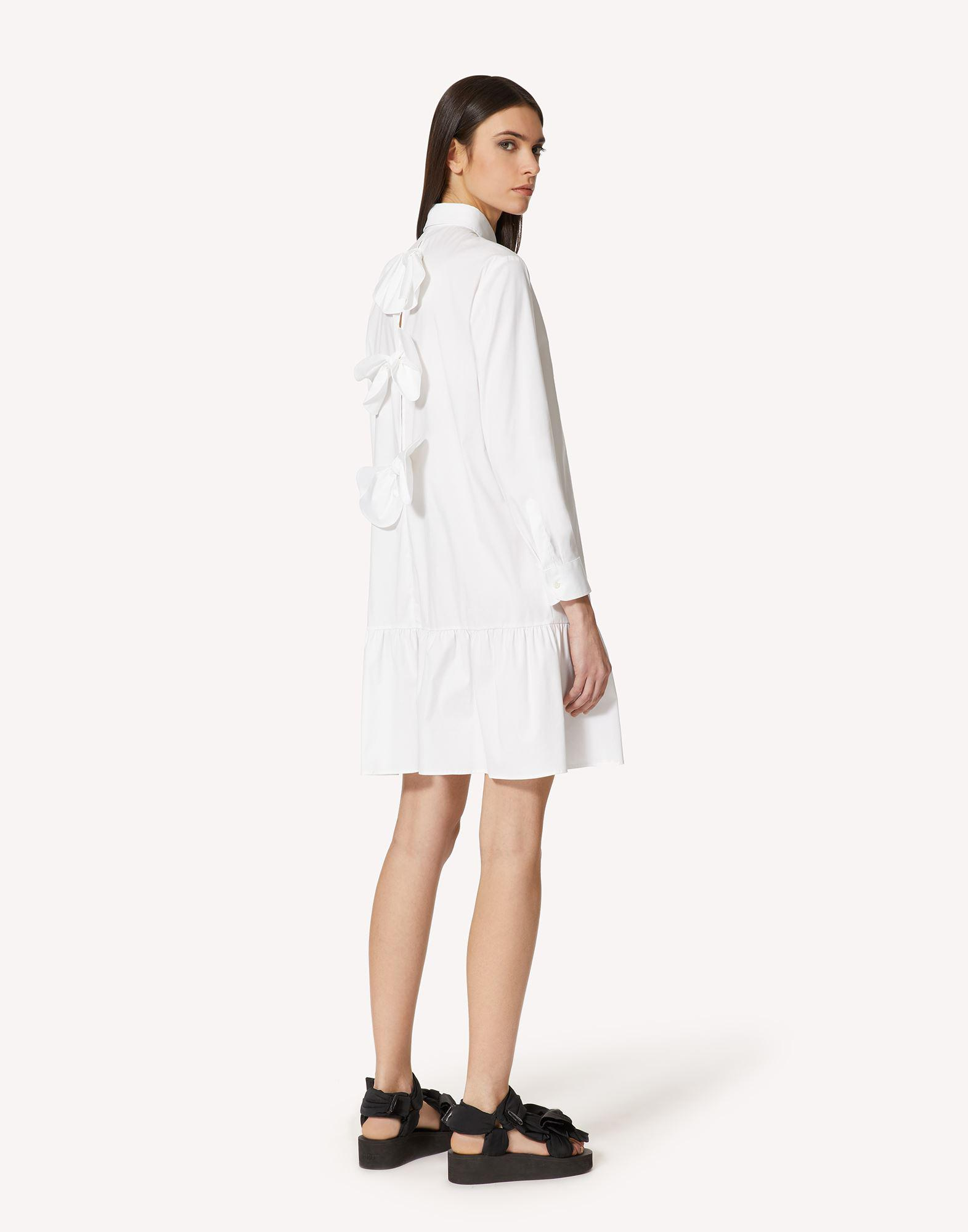 COTTON POPLIN DRESS WITH BOW DETAIL 2