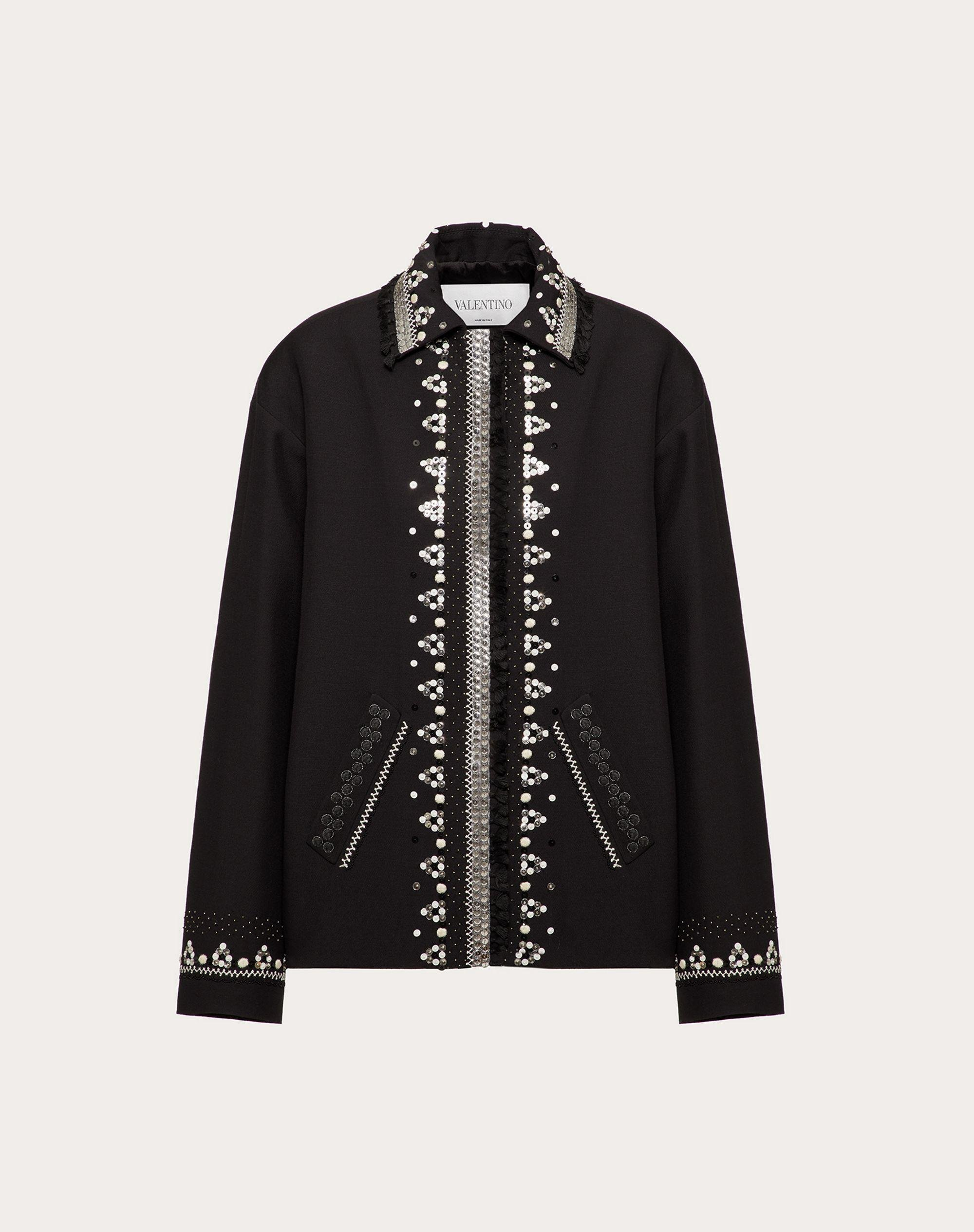 EMBROIDERED CREPE COUTURE JACKET