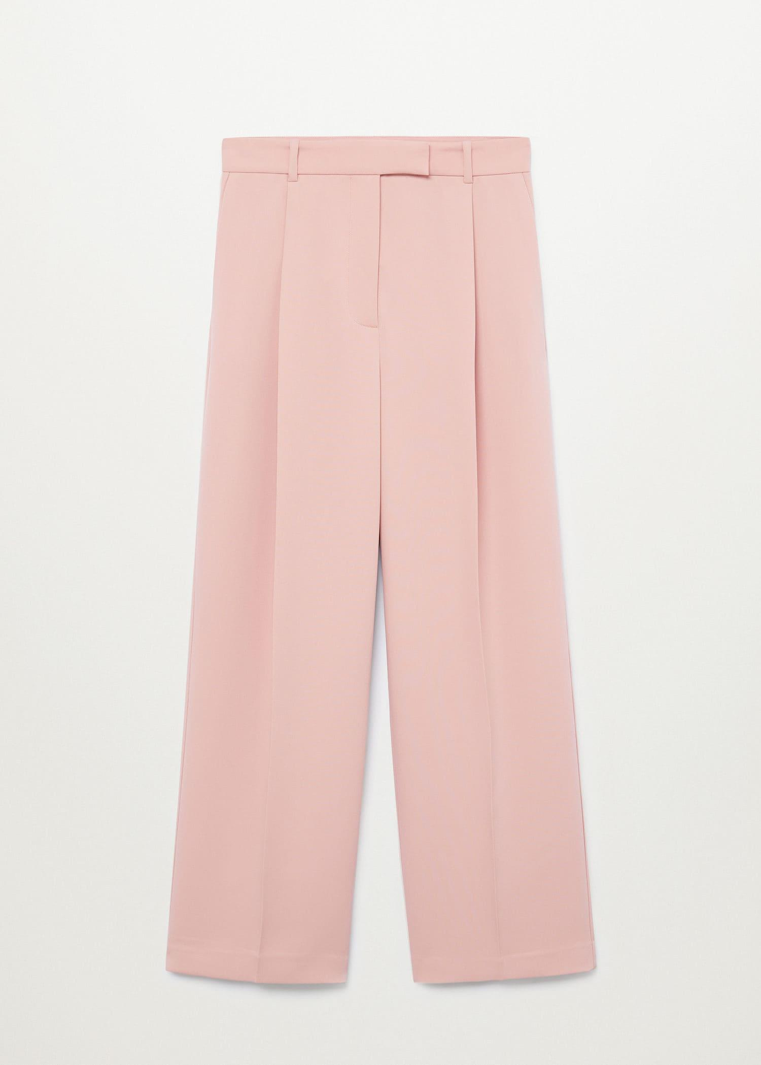 Pleat straight trousers 9