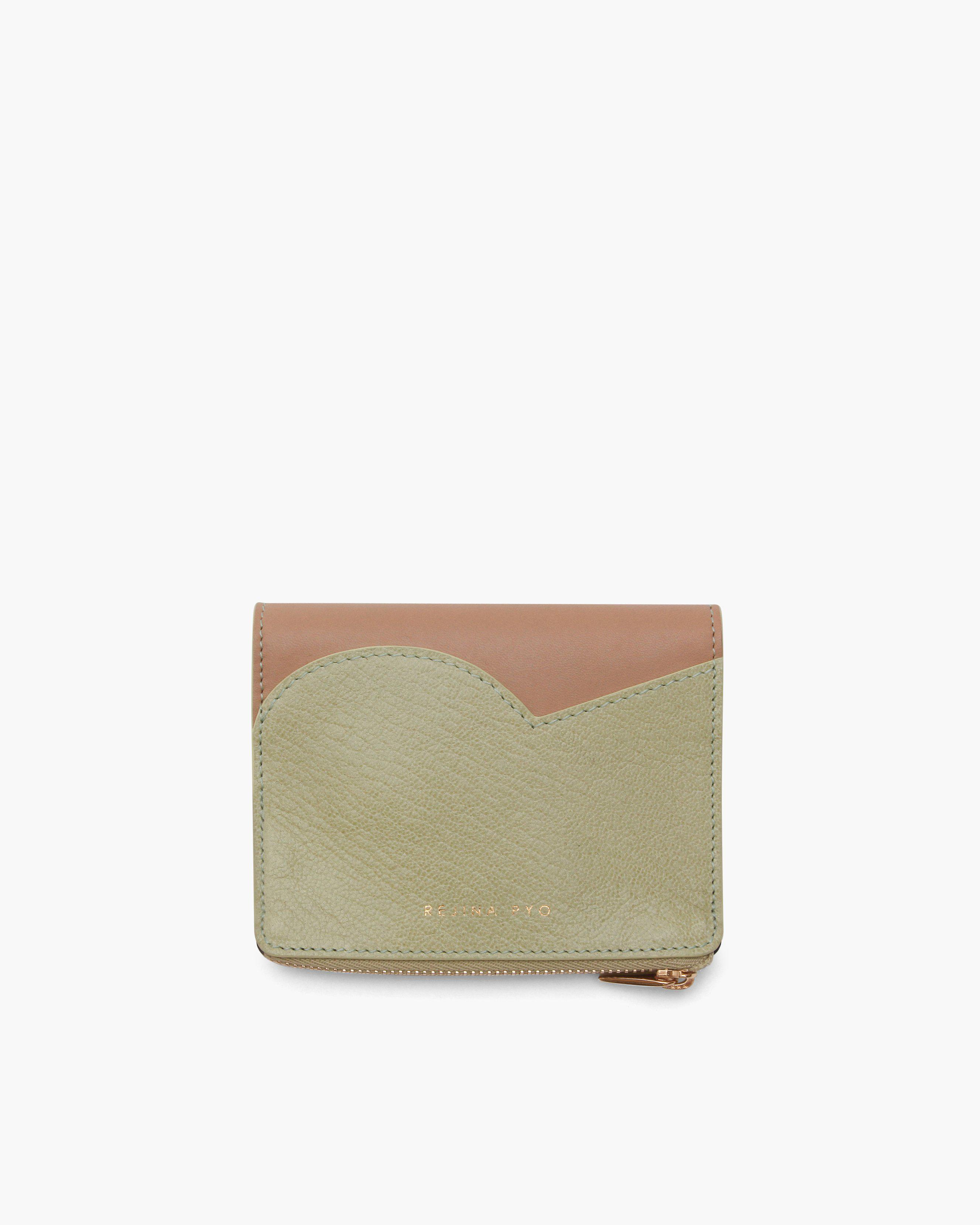 RP Zip Wallet Leather Citrus Green + Nappa Almond