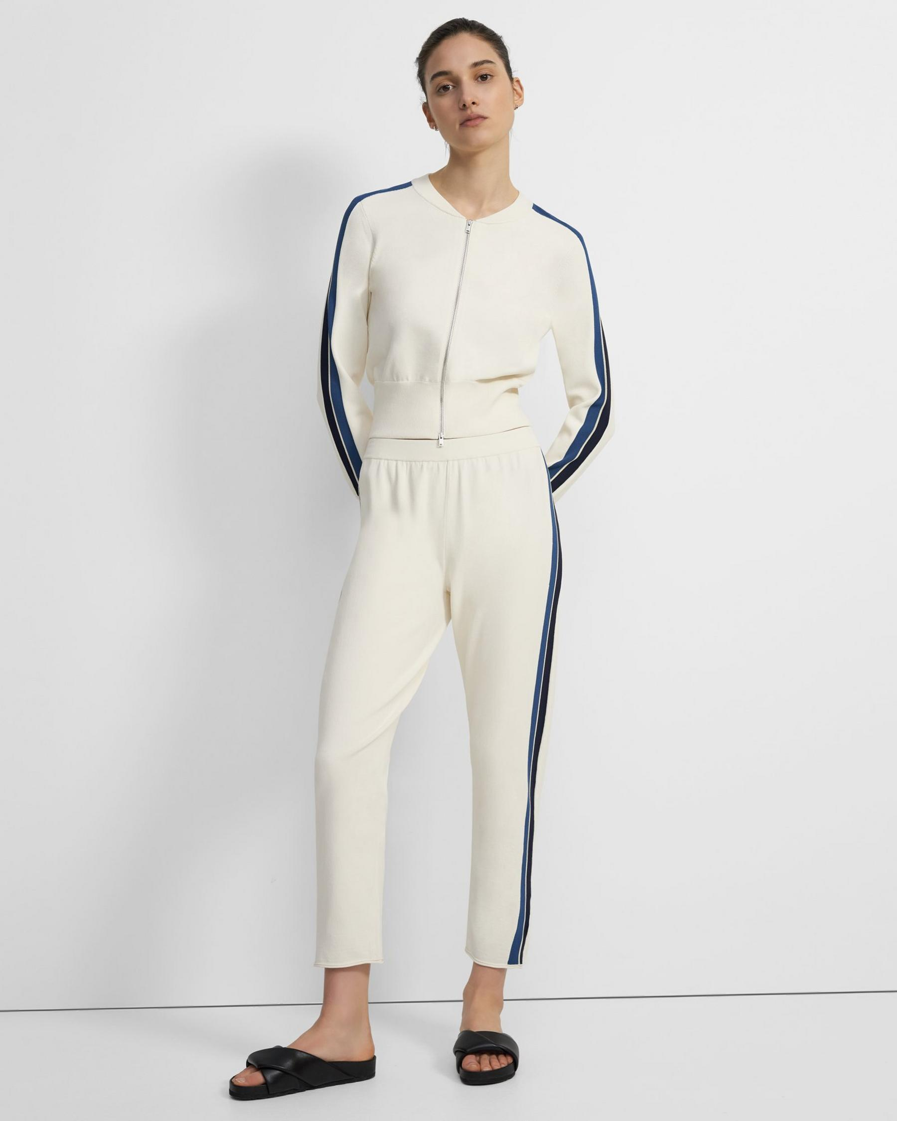 Side Stripe Pull-On Pant in Crepe Knit 1