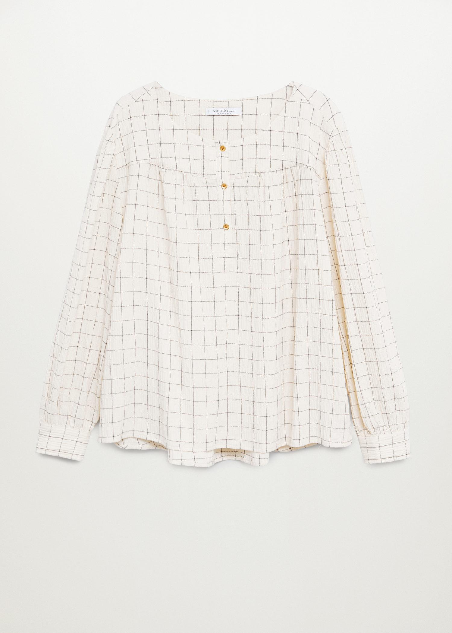 Textured check blouse 6
