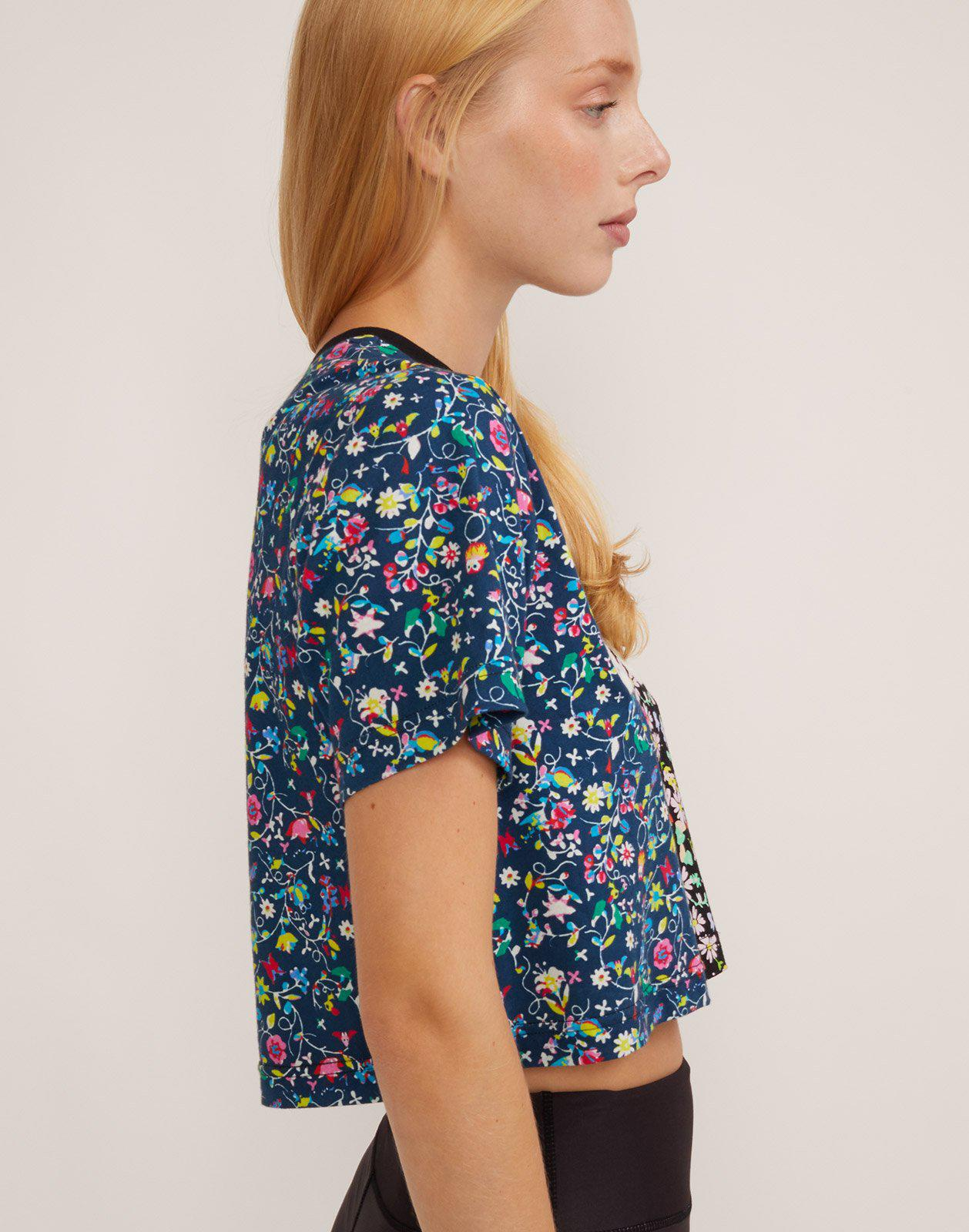 Embroidered Crop Print Tee 3
