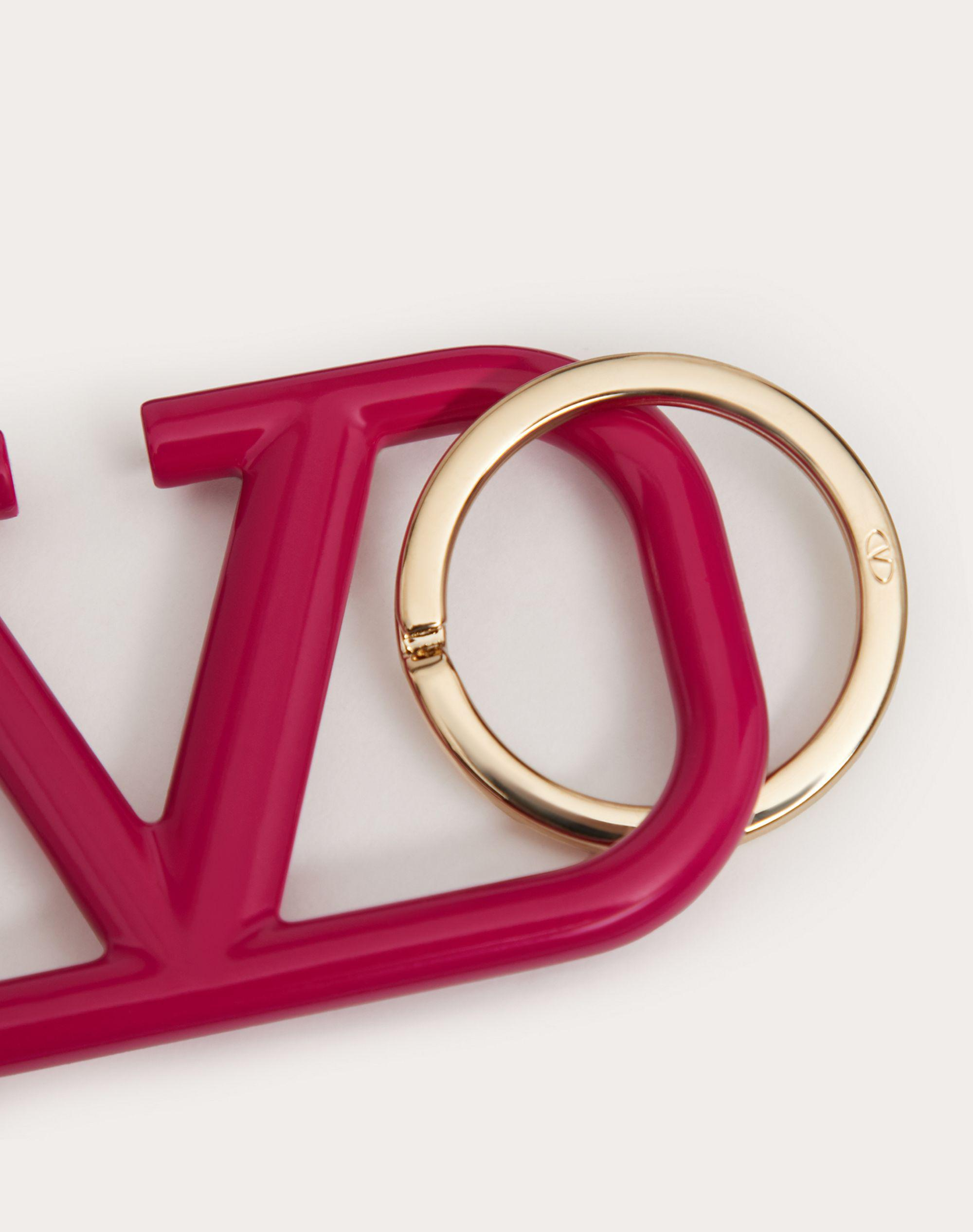 VLOGO SIGNATURE KEYCHAIN IN LACQUERED METAL 1