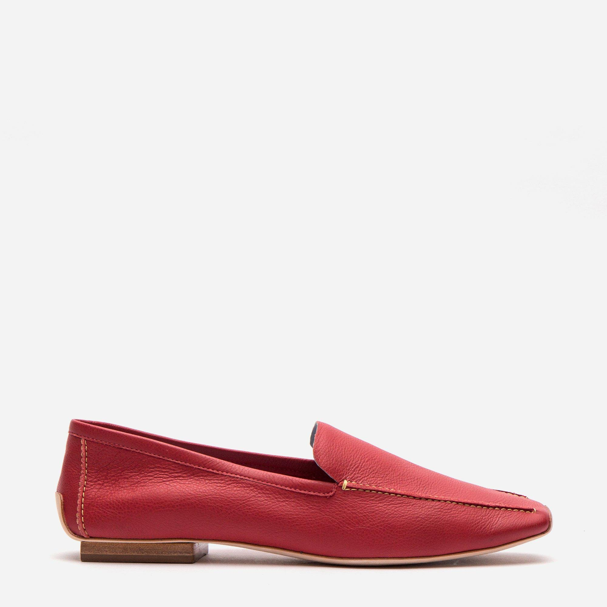 Elyce Loafer Leather Red