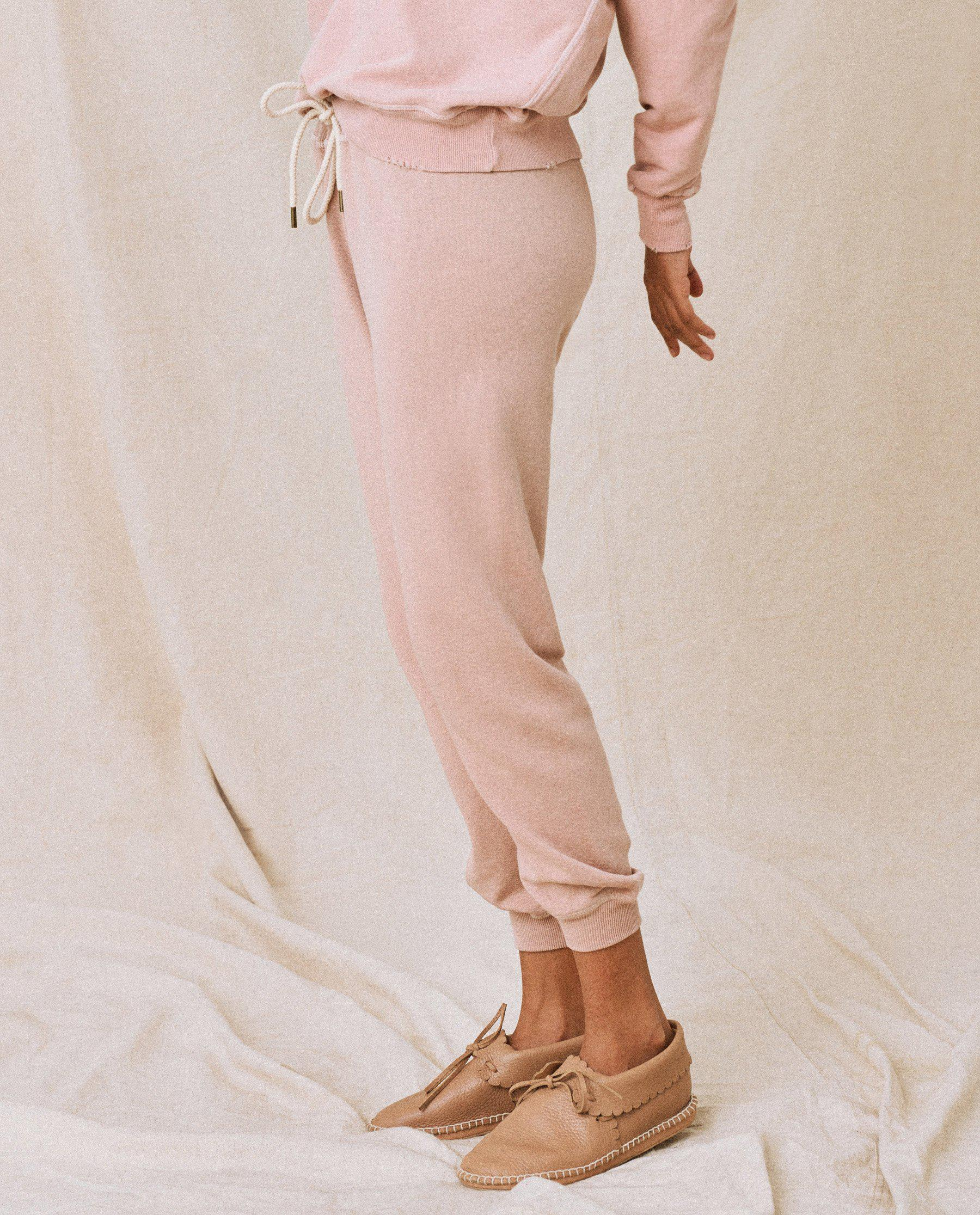 The Cropped Sweatpant. Solid -- Carnation 2
