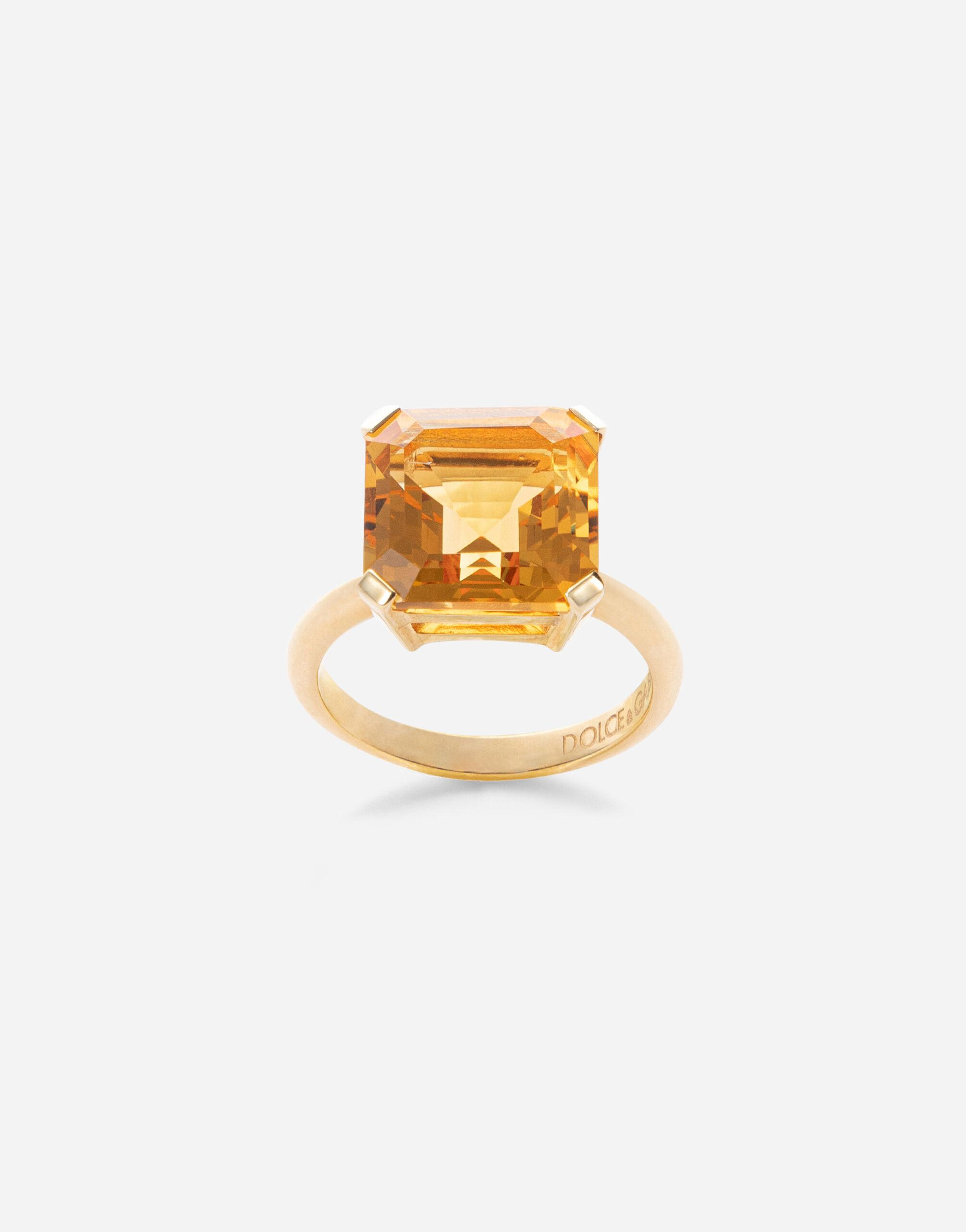 Anna ring in yellow 18kt gold with citrine