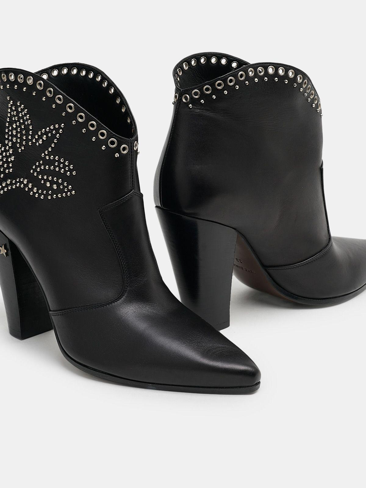 Michelle Low ankle boots with decorative studs 3