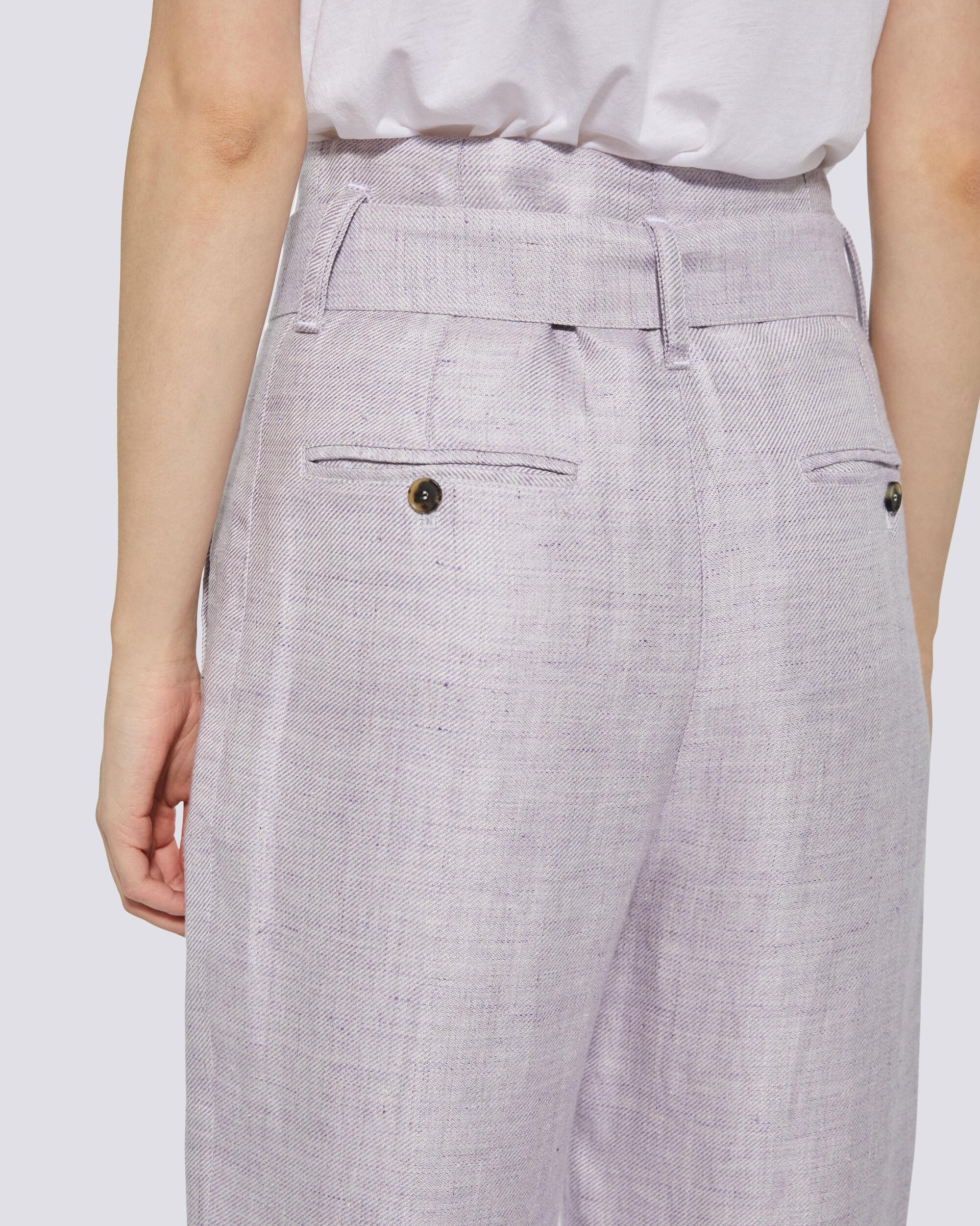 NAJAVA BELTED HIGH WAIST TROUSERS 4