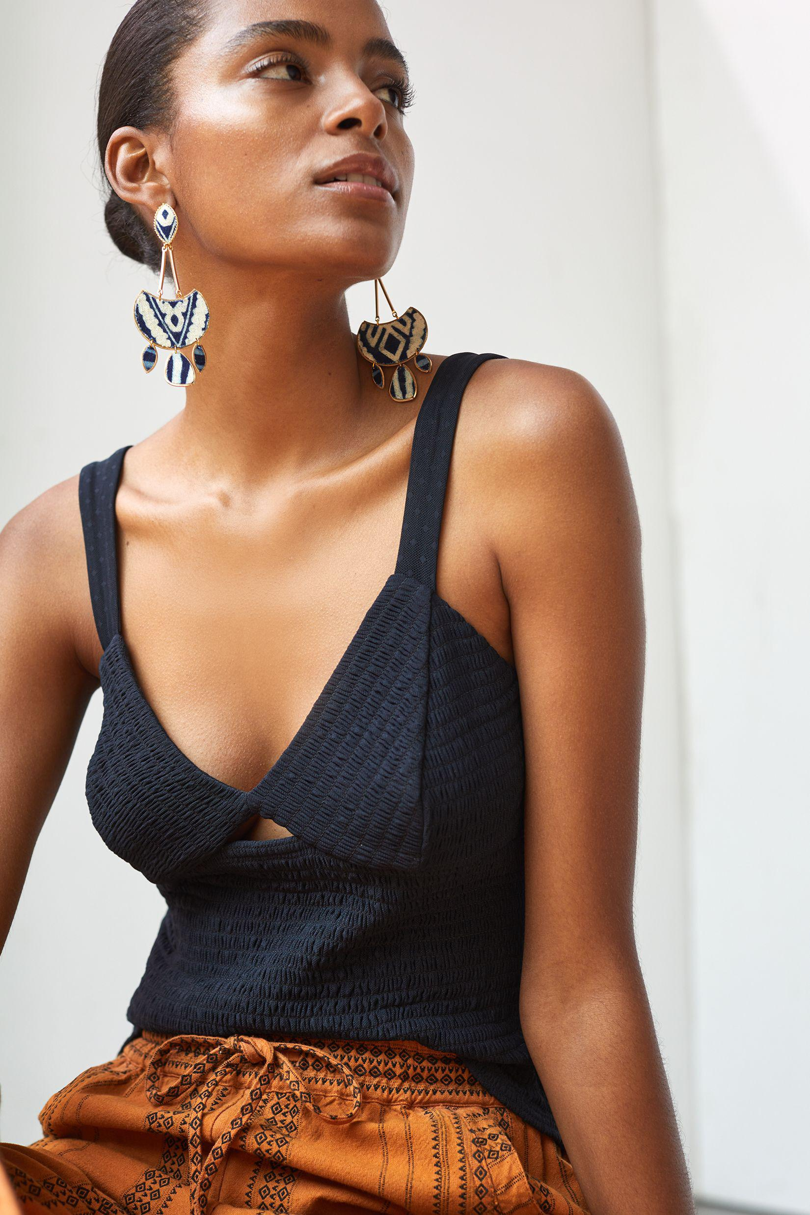 Smocked Cut-Out Tank