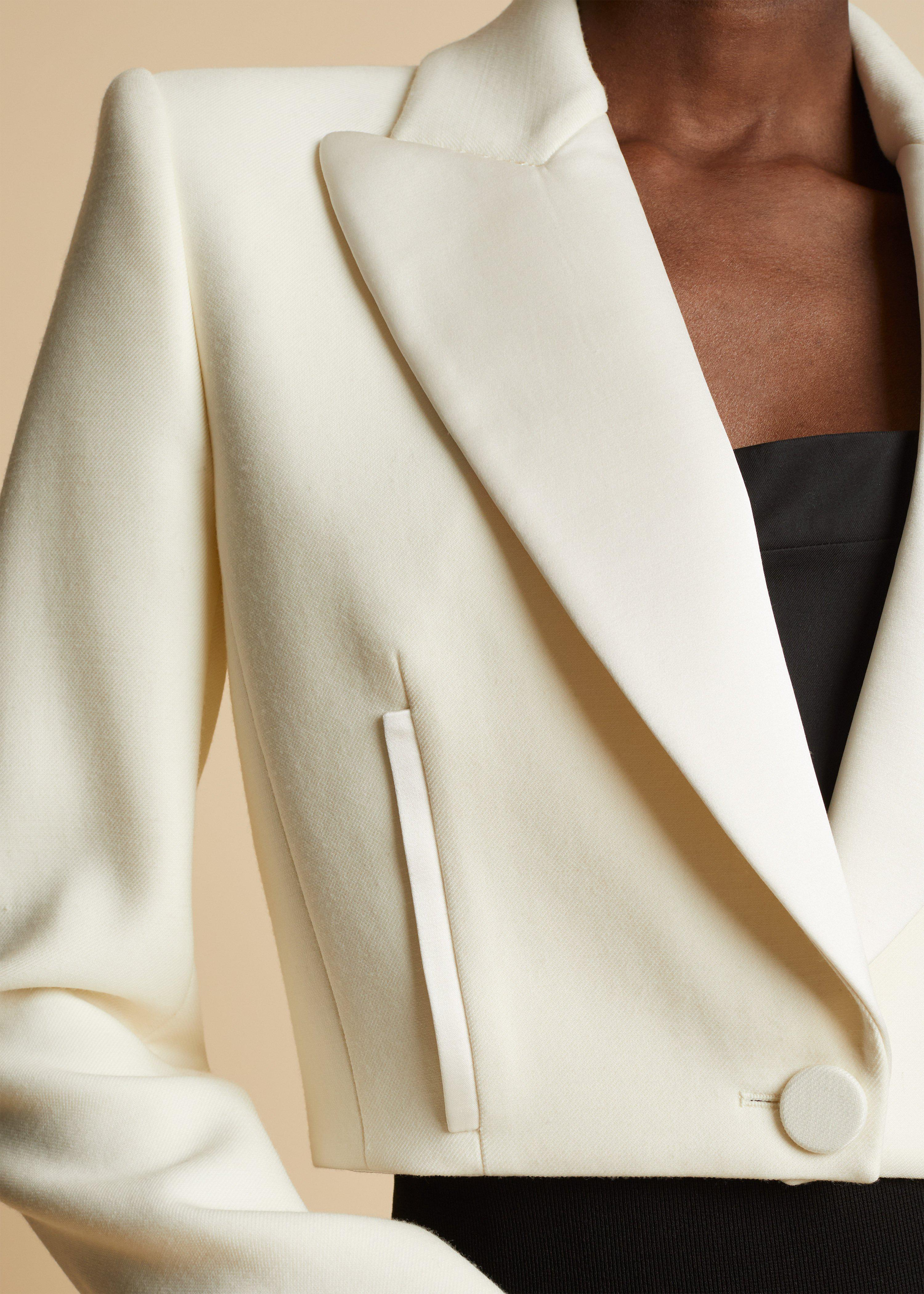 The Lucille Blazer in Ivory 4