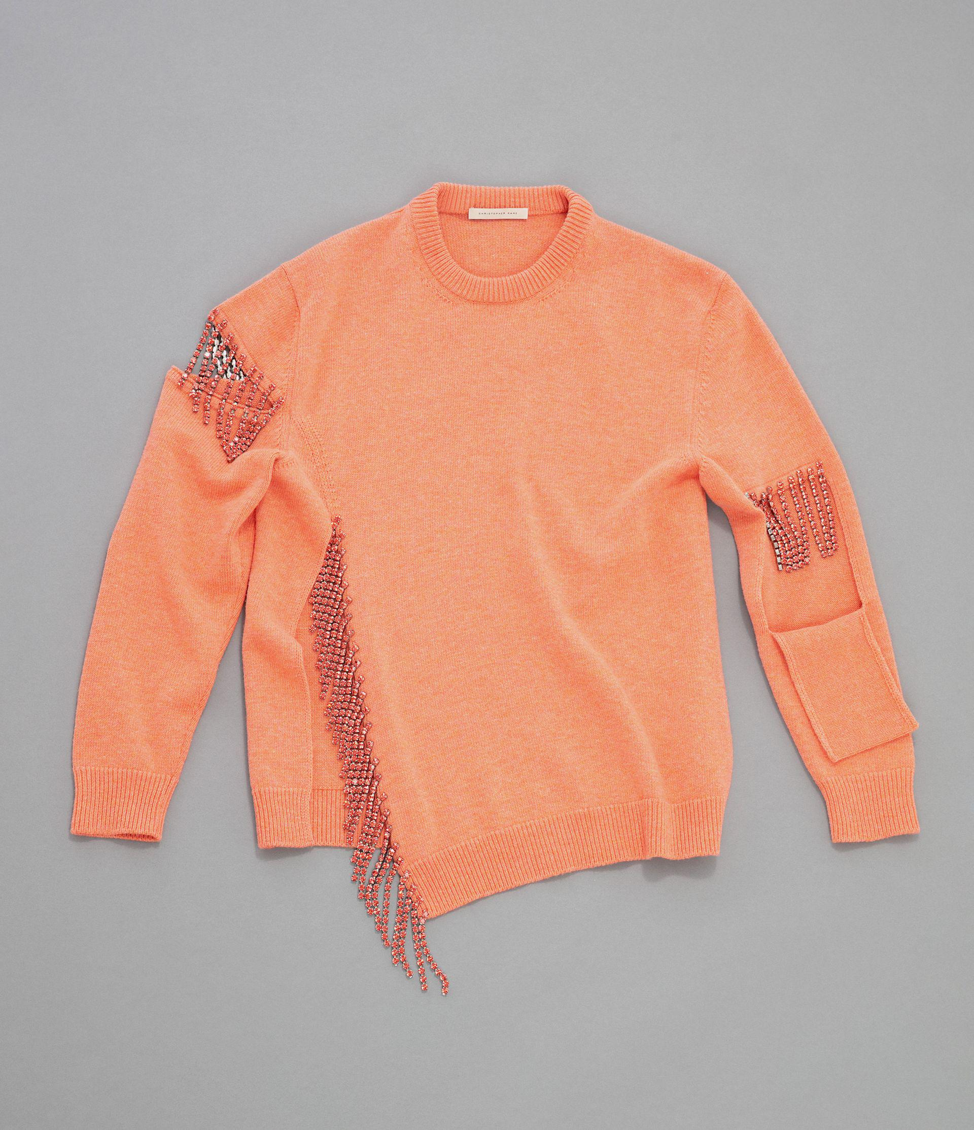 cut-out cupchain knitted sweater 4