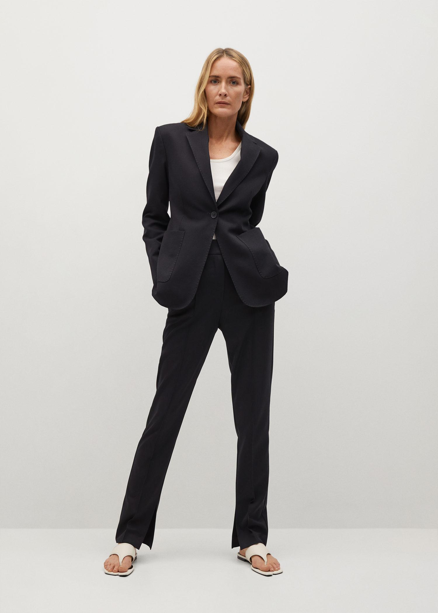 Fitted blazer with pocket 1