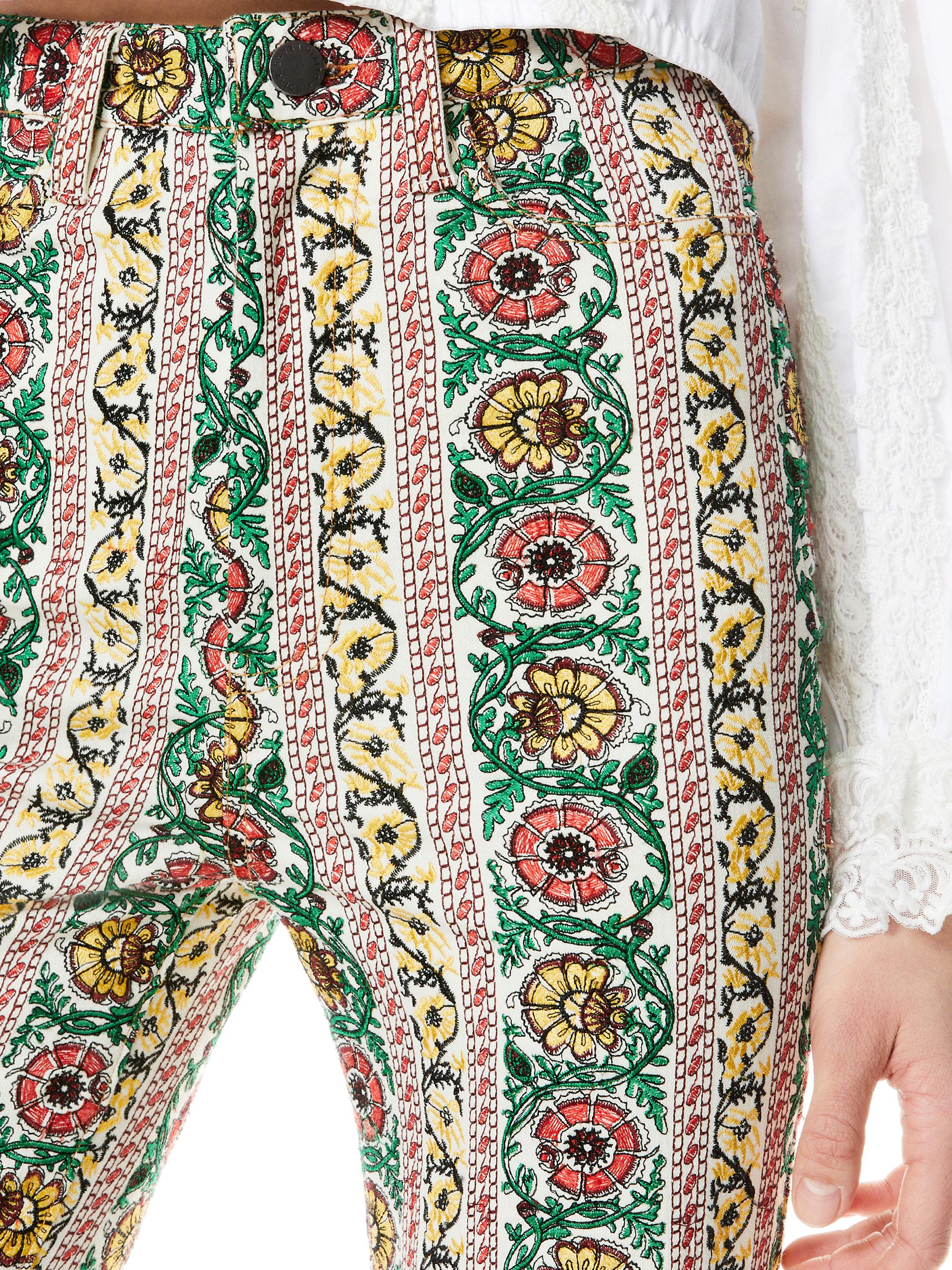 BENEDICT EMBROIDERED FLARE PANT 6