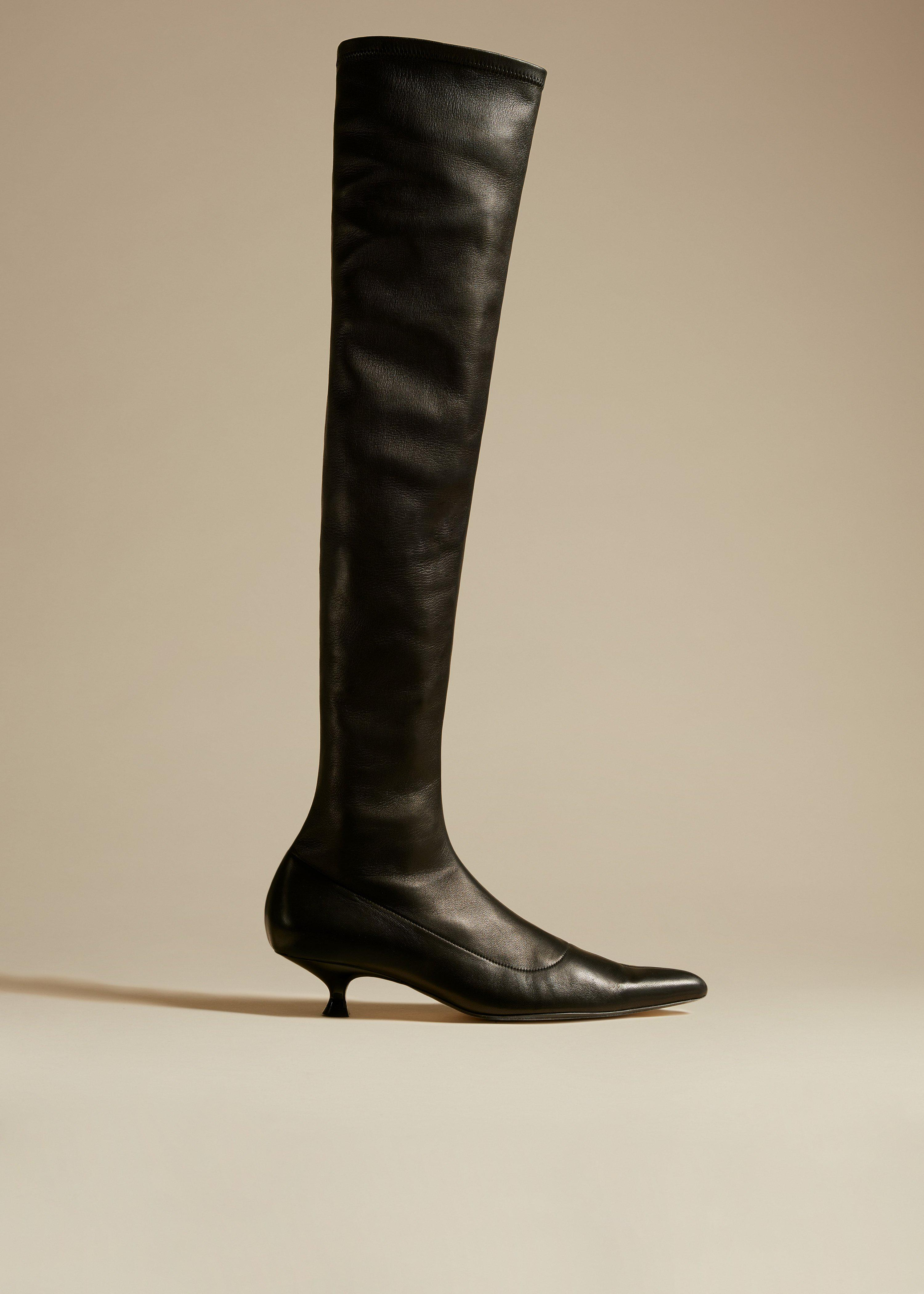 The Volos Over-the-Knee Boot in Black Leather
