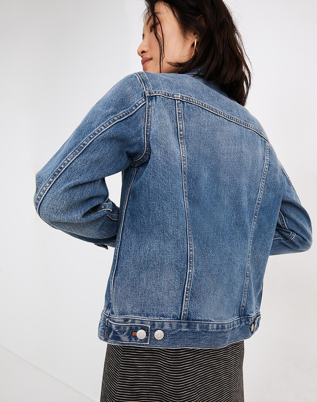 Mama Embroidered Jean Jacket in Medford Wash 2
