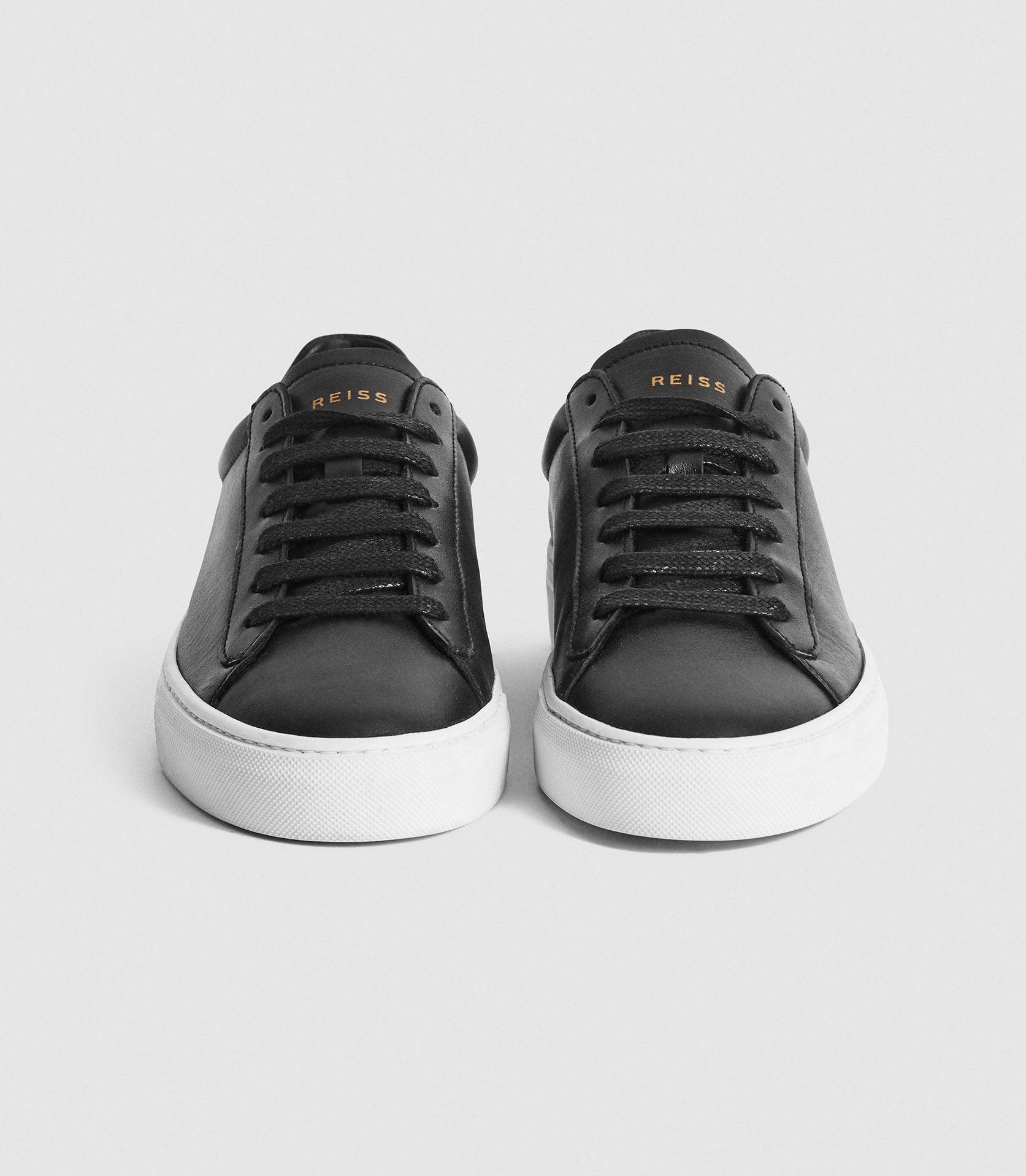 FINLEY - LEATHER CONTRAST SOLE TRAINERS 2