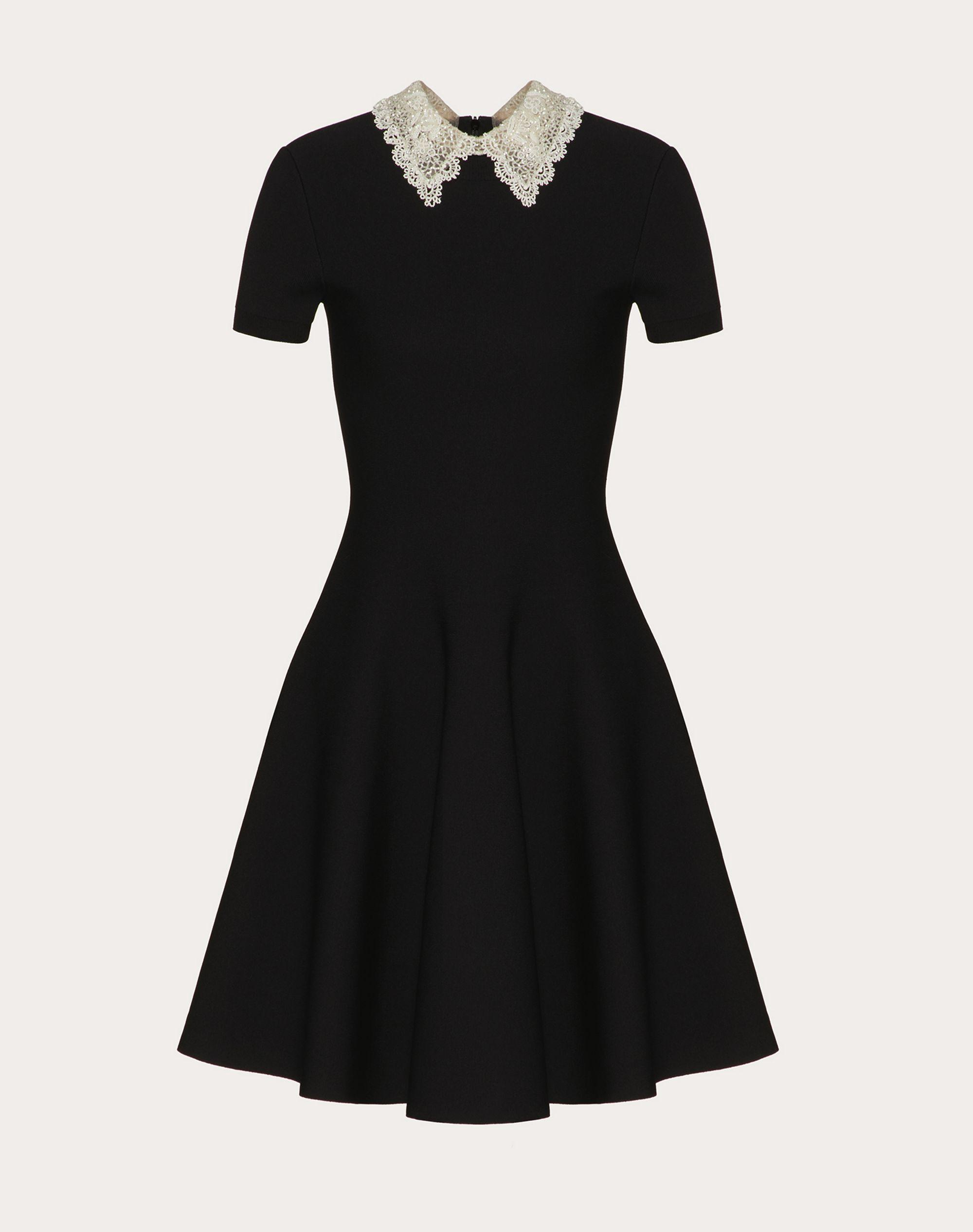 Embroidered Stretch Viscose Knitted Dress 4