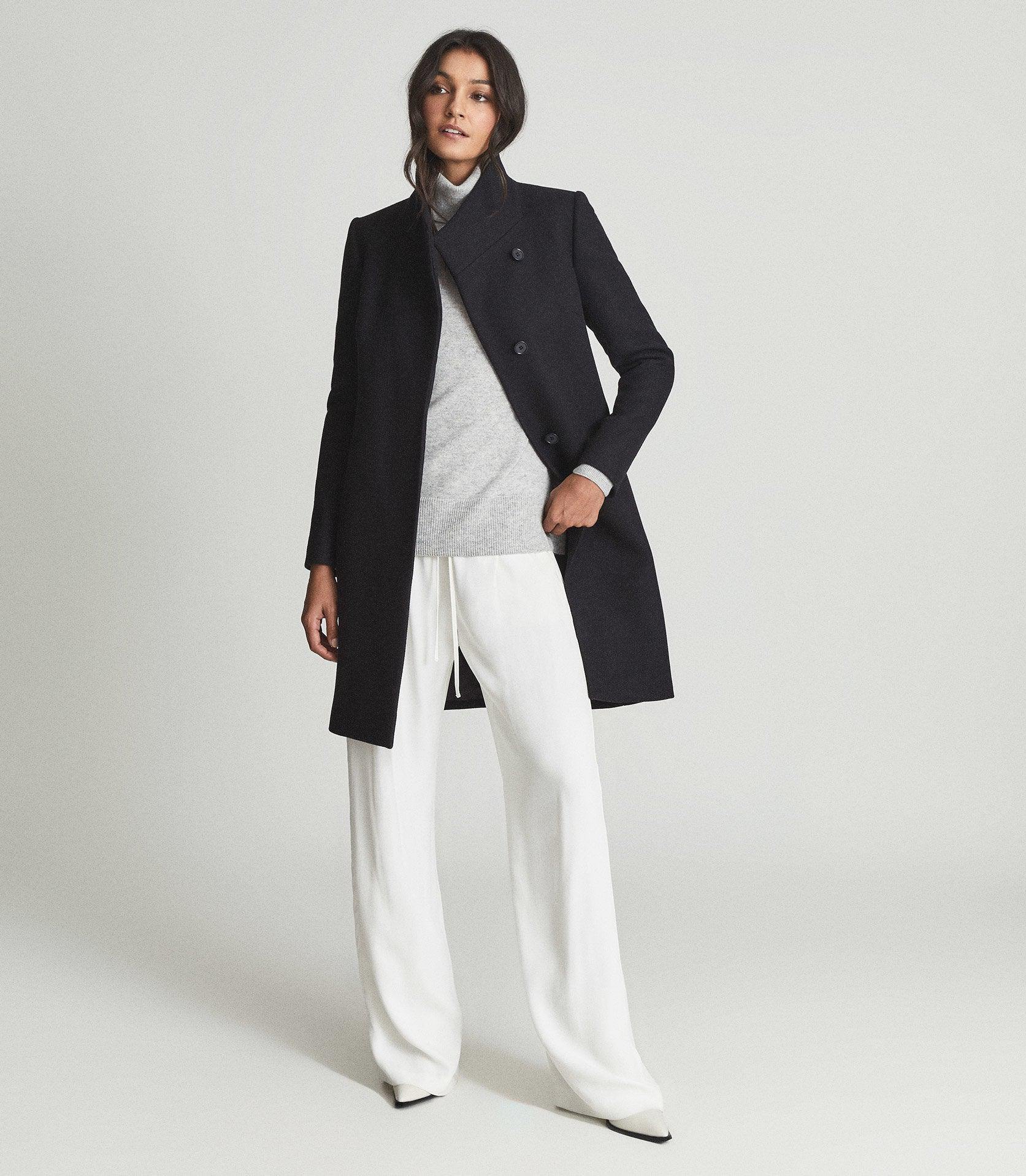 MIA - WOOL BLEND DOUBLE BREASTED COAT