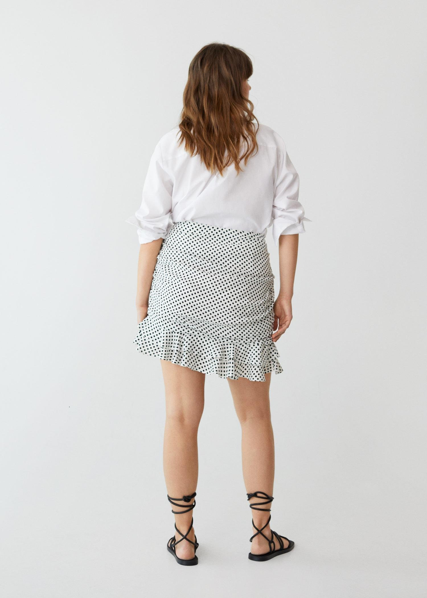 Gathered skirt with ruffles 2
