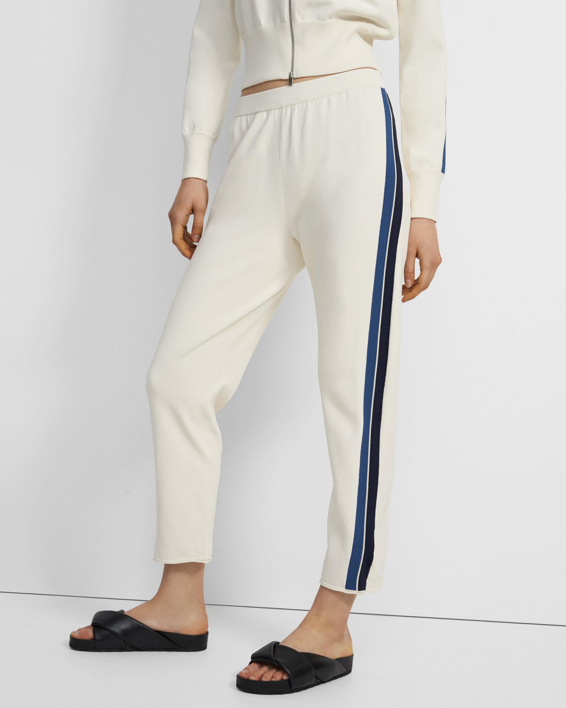 Side Stripe Pull-On Pant in Crepe Knit 3