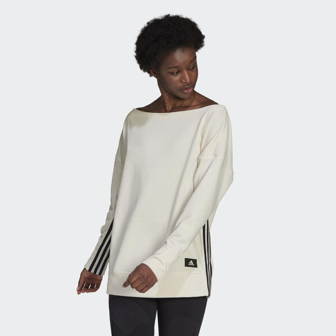 Sportswear Recycled Cotton Cover-Up White S - Womens Training Hoodies & Sweatshirts