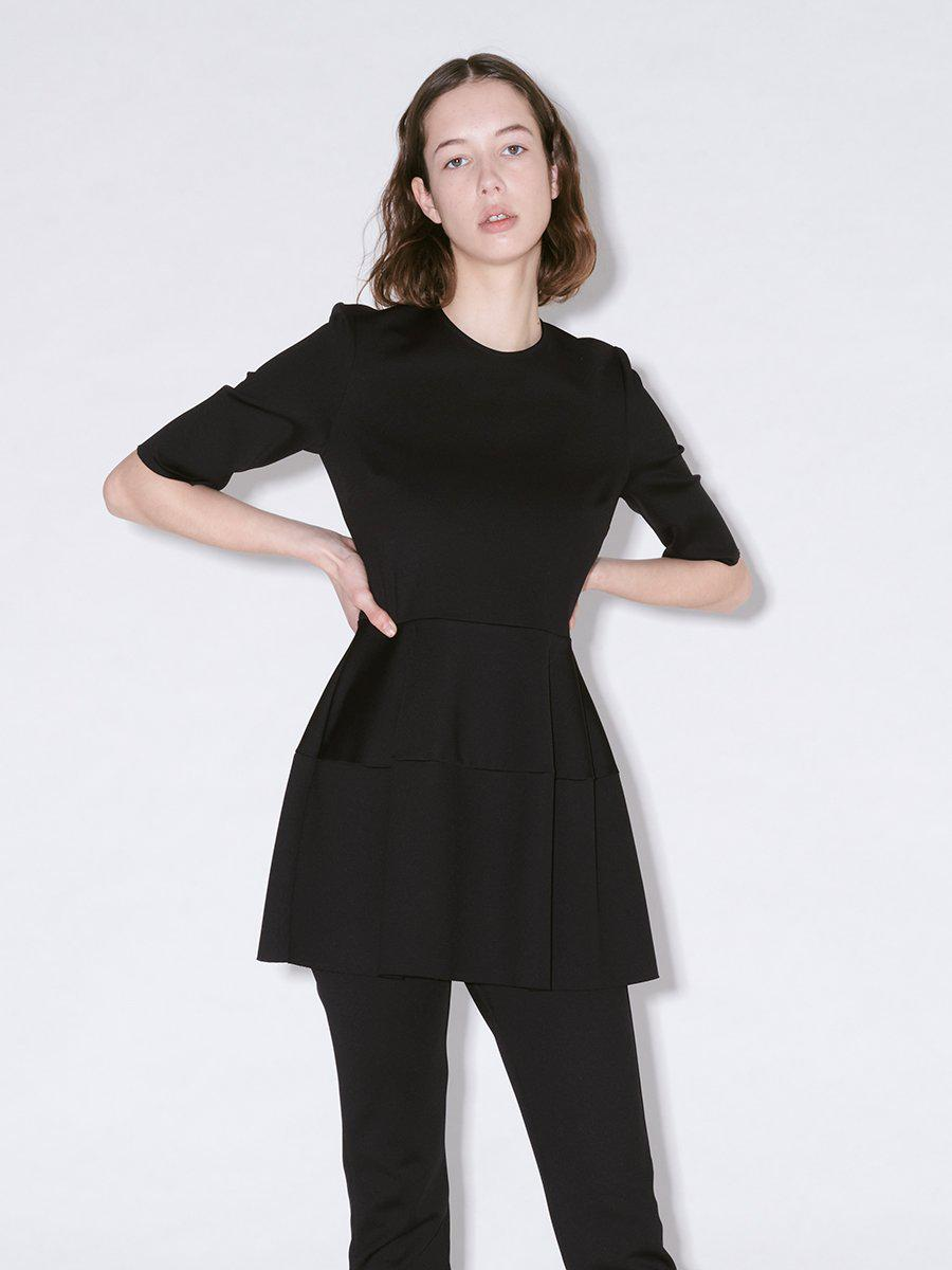 FITTED SHORT SLEEVE LANTERN TOP 0
