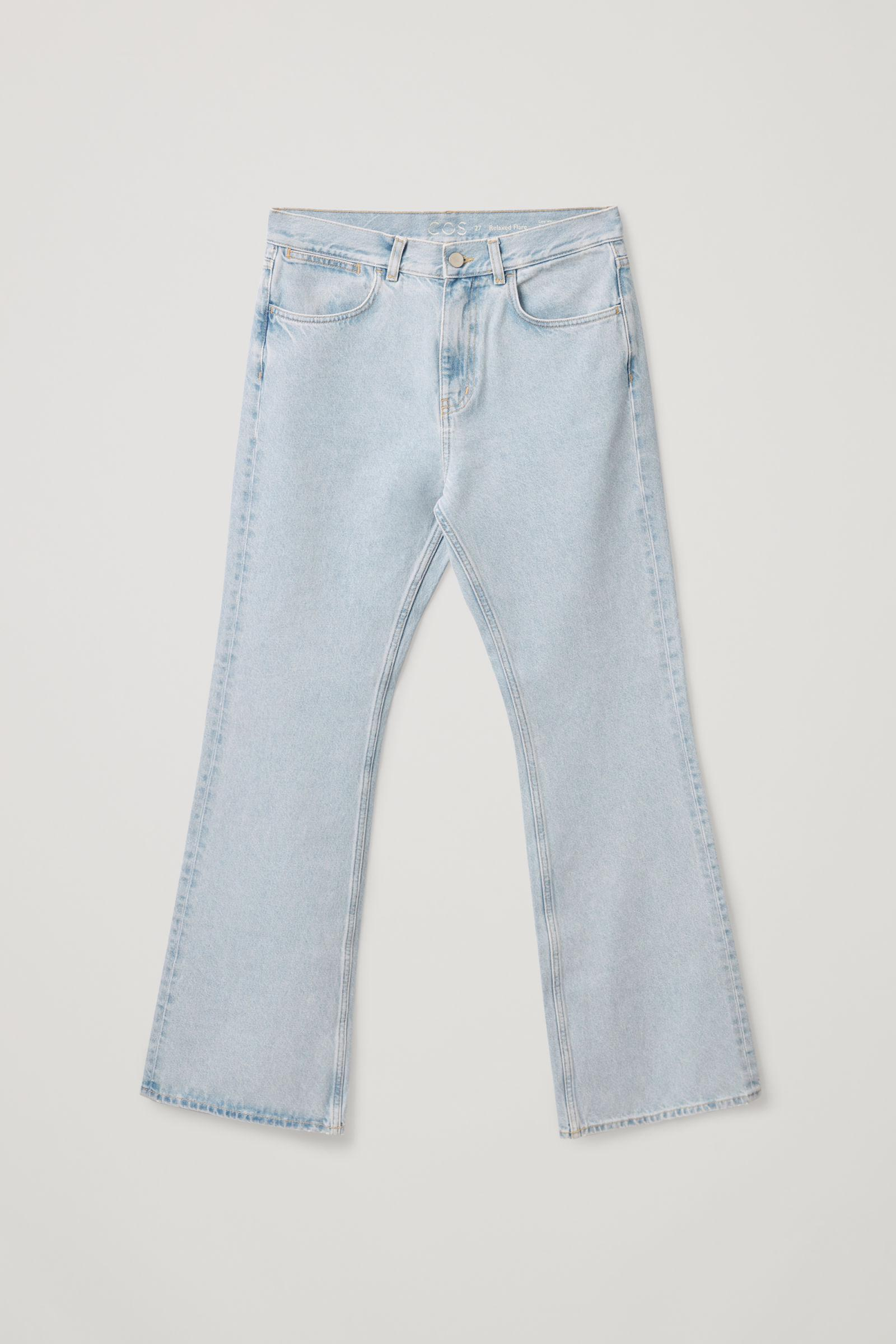 FLARED RECYCLED COTTON DENIM PANTS 7