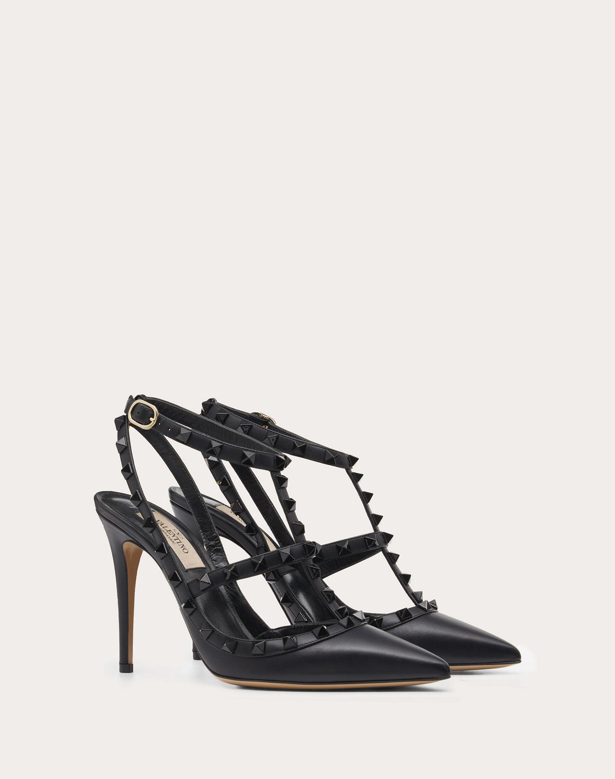 Rockstud Ankle Strap Pump with Tonal Studs 100  mm 1