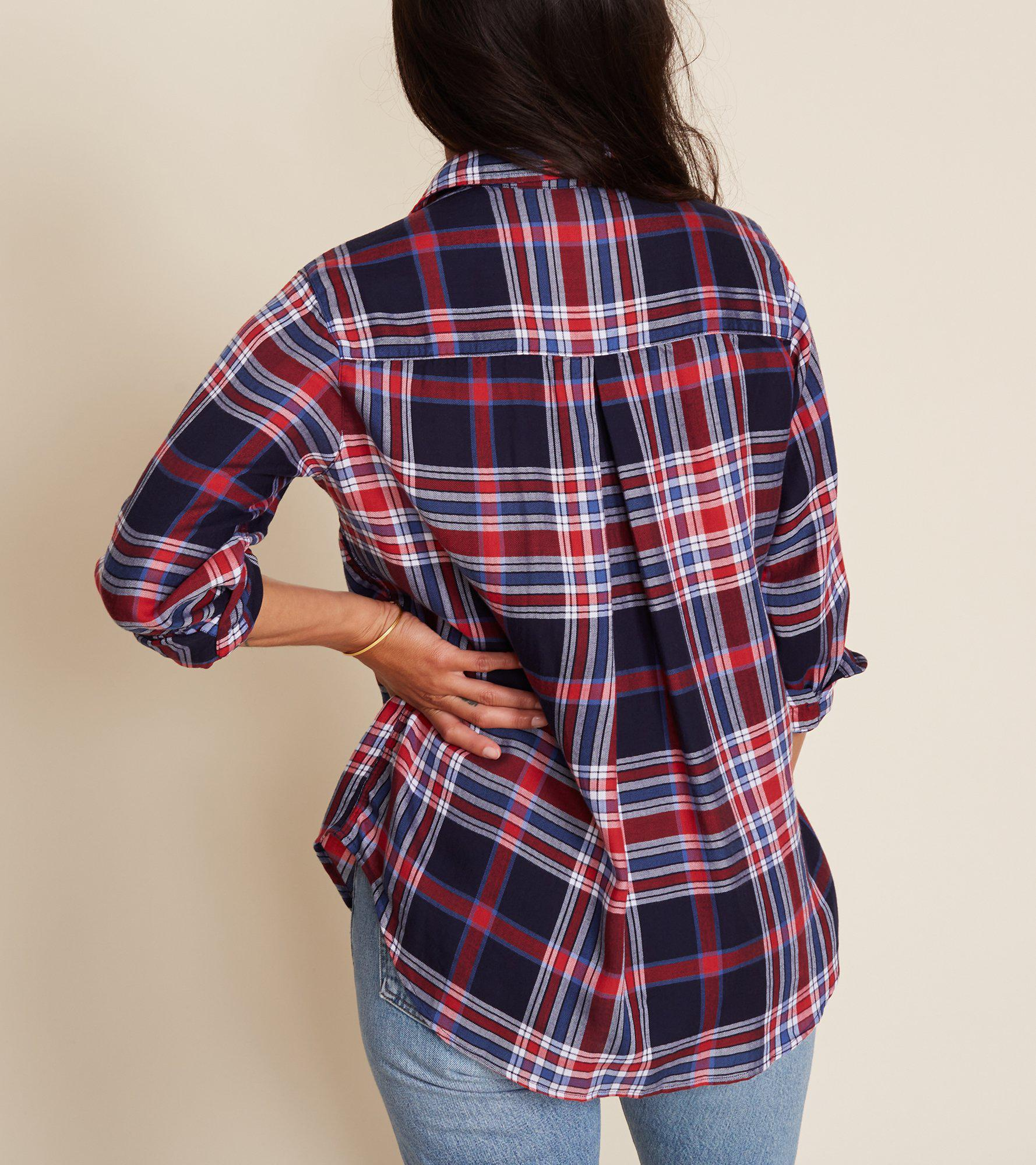 The Hero Red and Blue Plaid, Brushed Liquid Final Sale 2