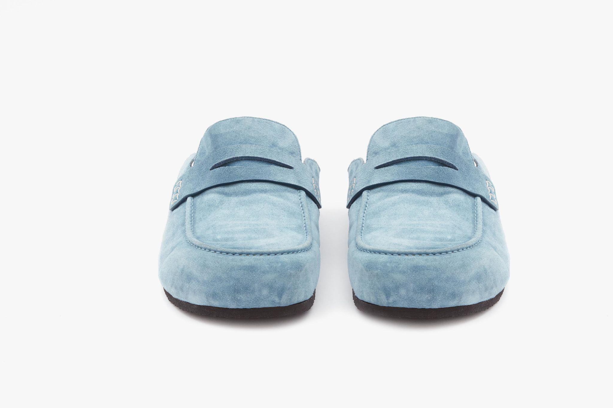 SUEDE LOAFER MULES 2