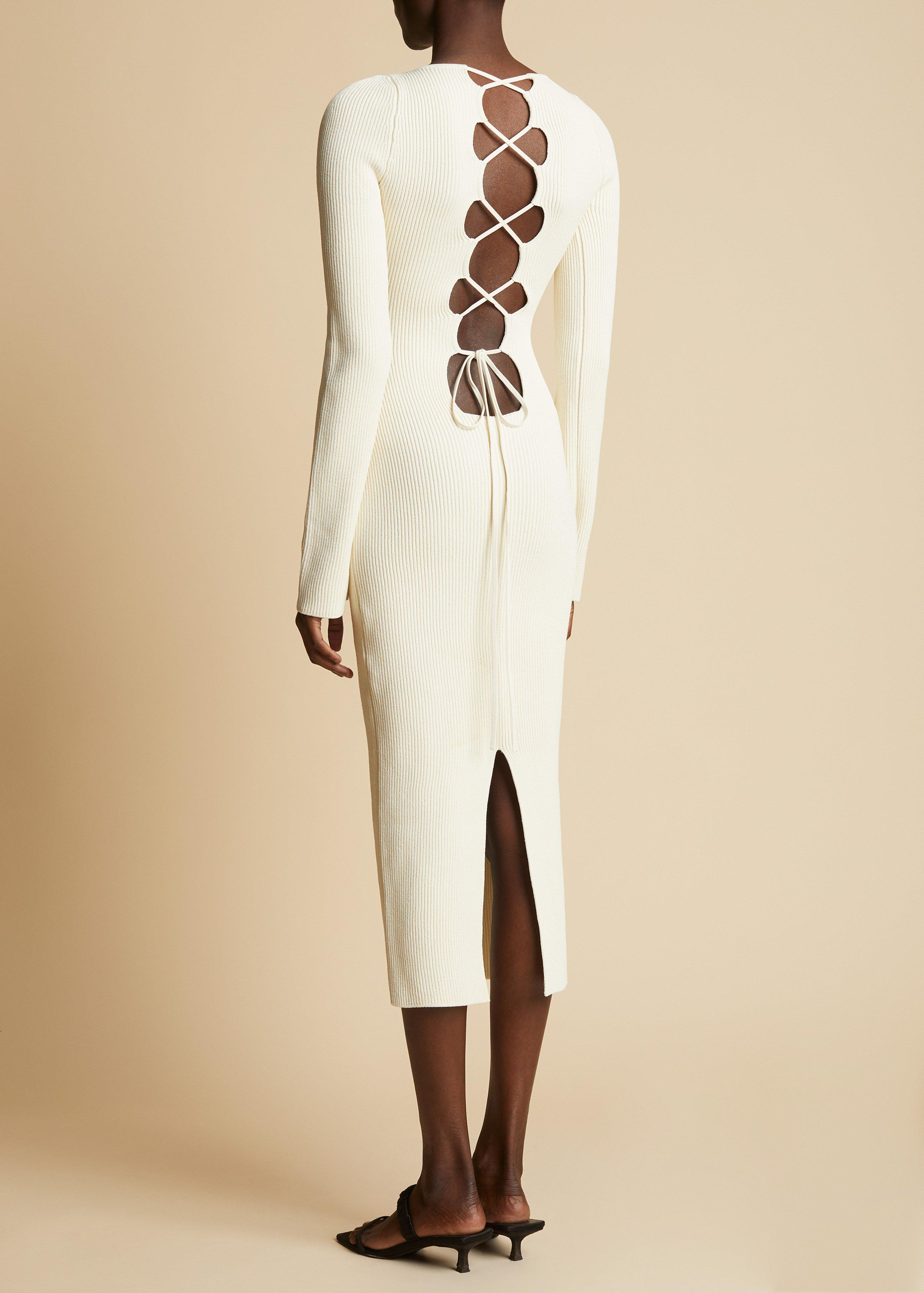 The Vivia Dress in Ivory 2